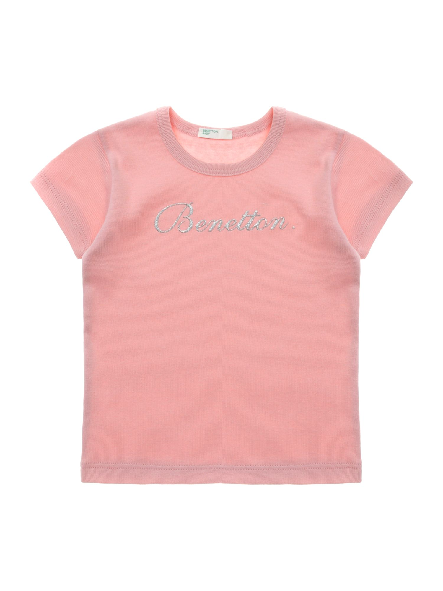 Girl`s short-sleeved glitter T-shirt