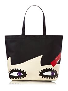 Lulu Guinness Doll face Luisa tote bag