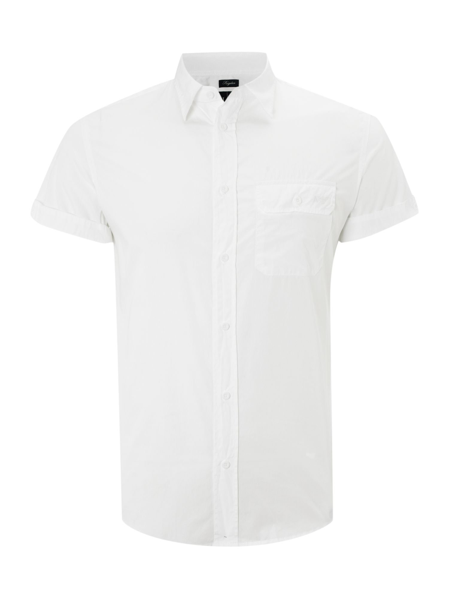 Short sleeved one pocket shirt