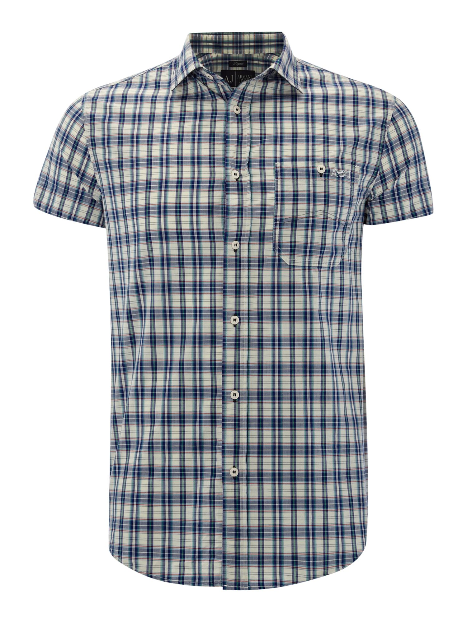 Short sleeved checked shirt