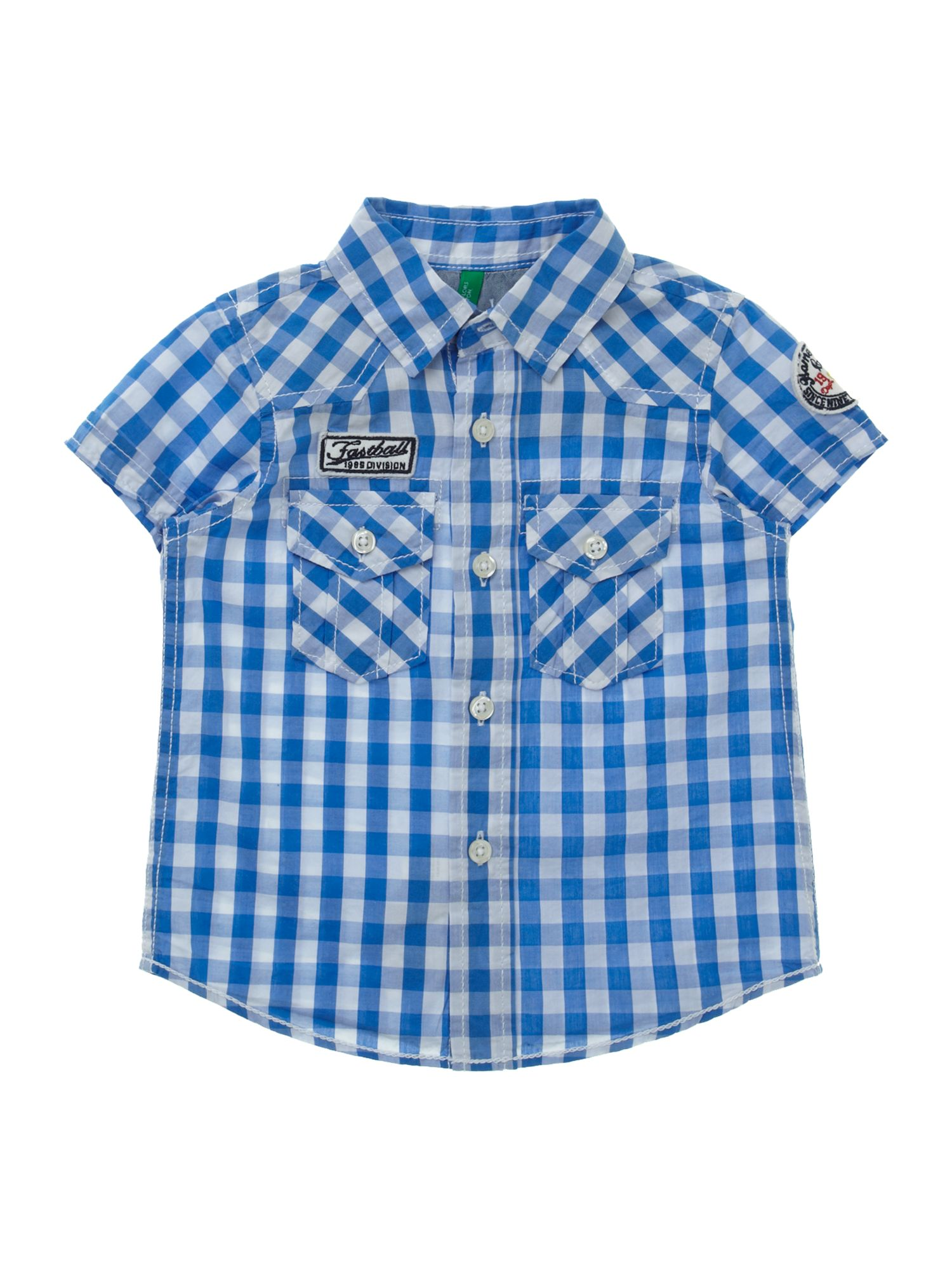 Boy`s short-sleeved checked shirt