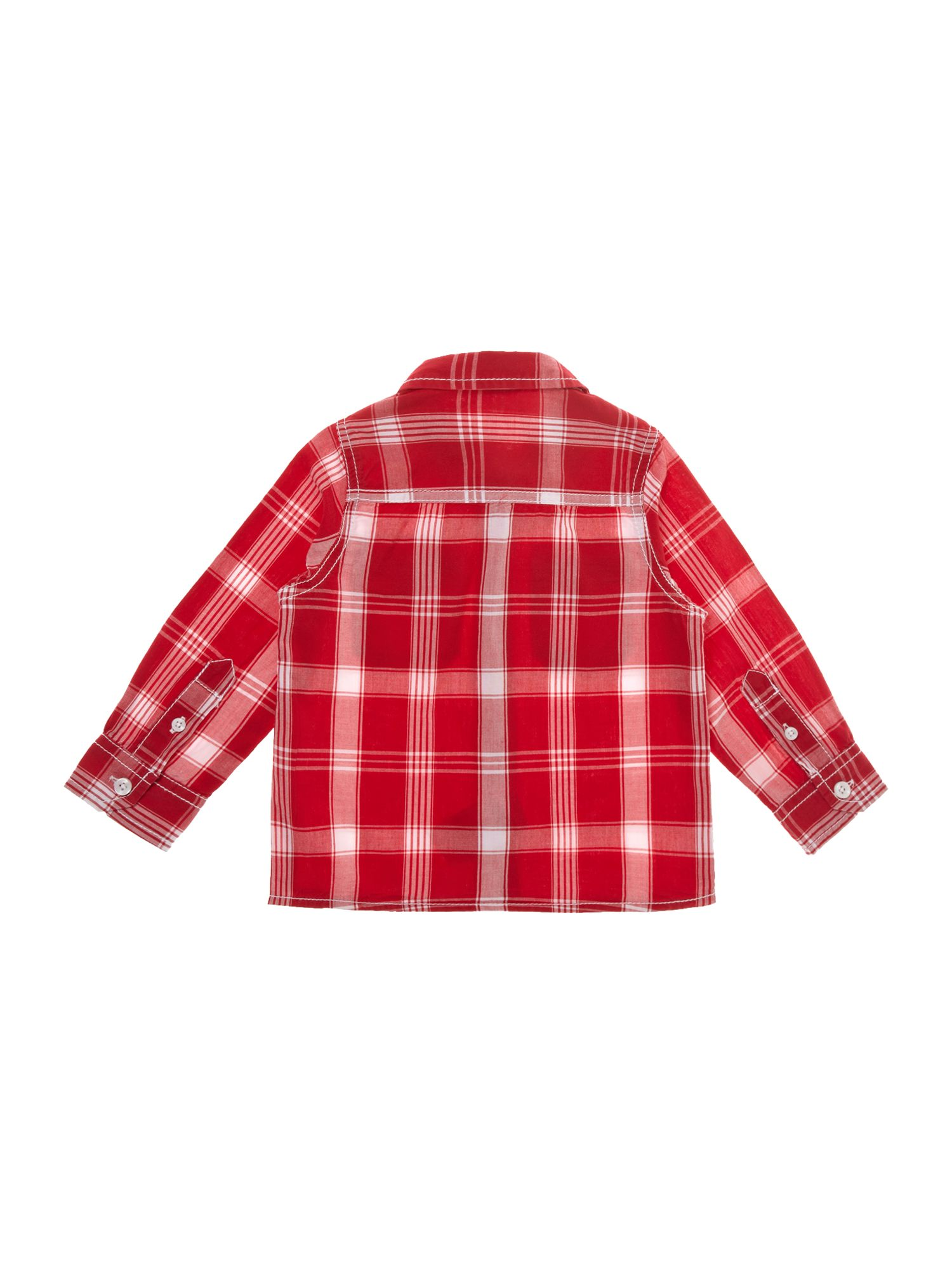 Boy`s long-sleeved western checked shirt