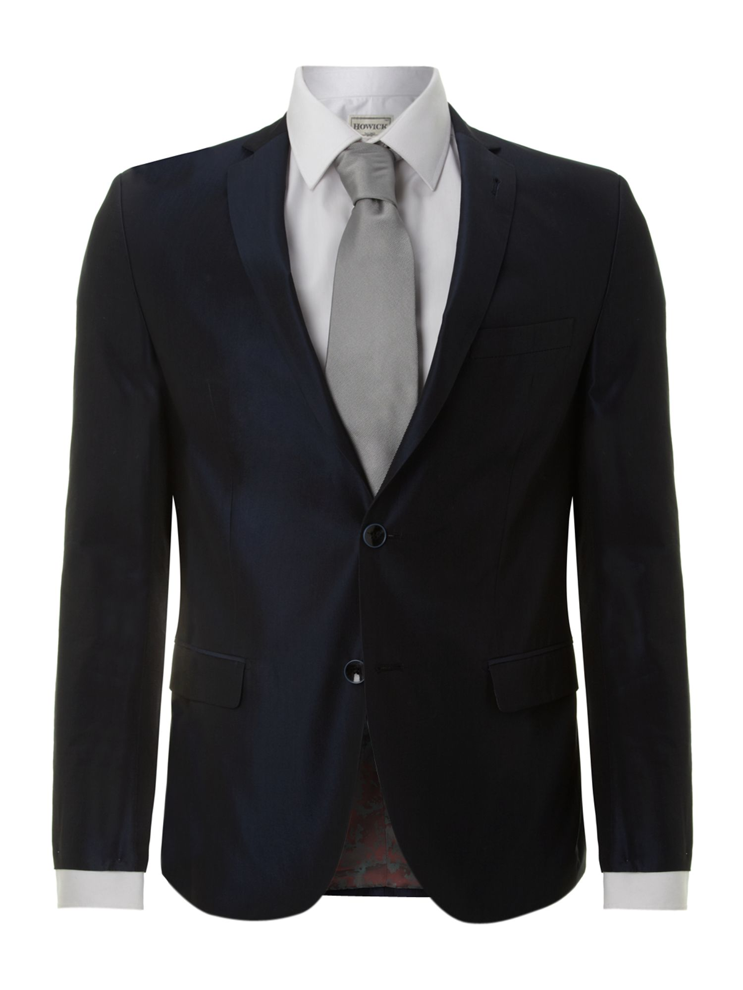 Slim fit fine striped suit