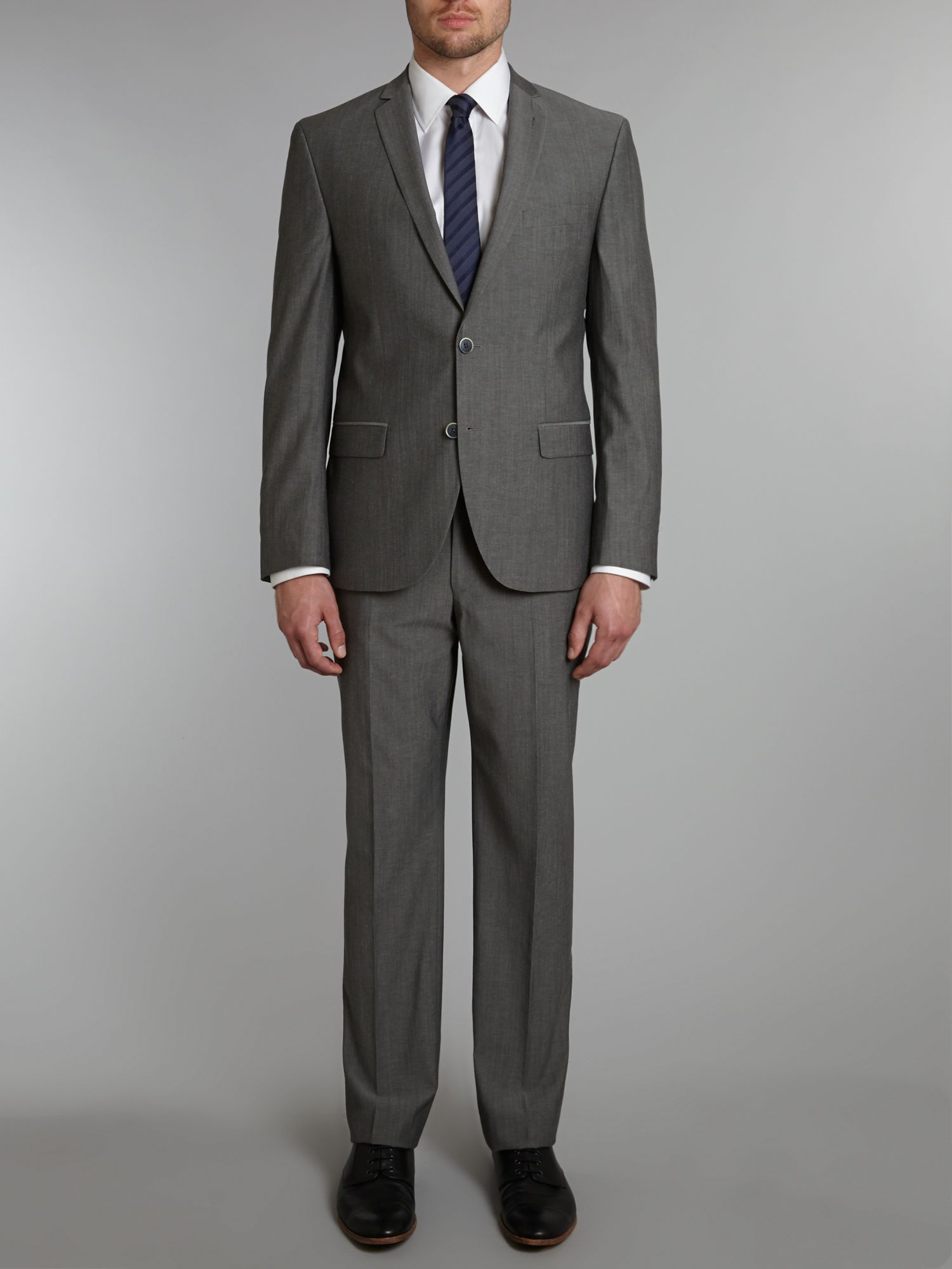Slim fit solid suit