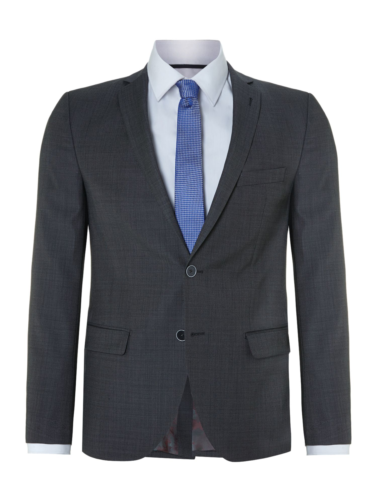 Slim fit birdseye suit