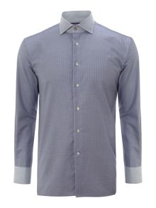 SH small check shirt with contrast collar