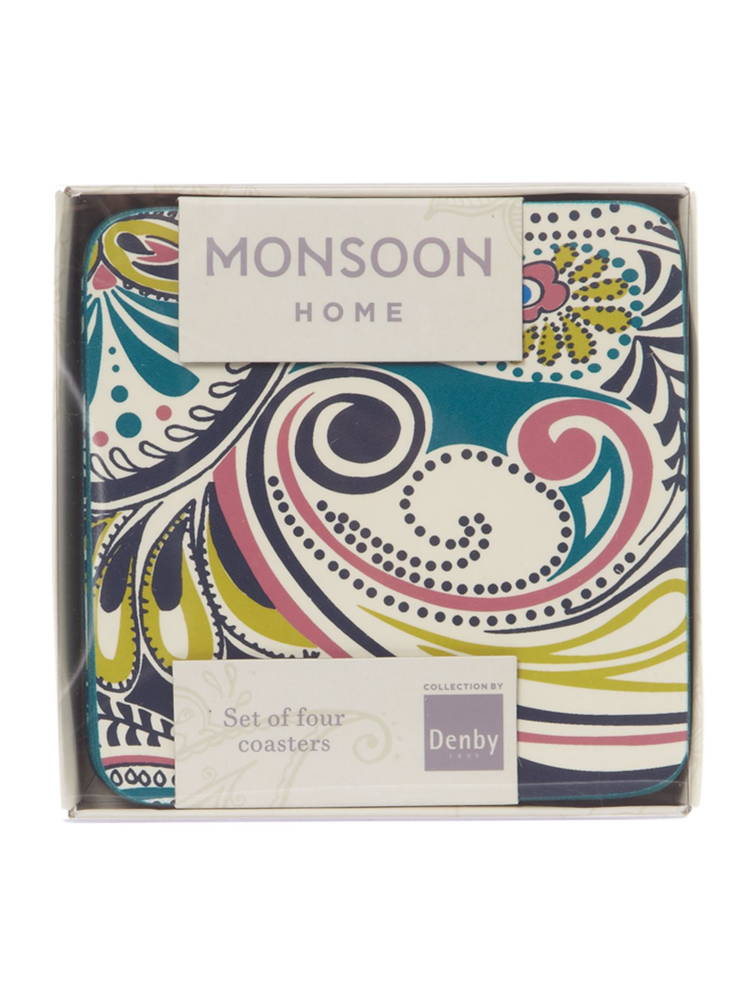 Monsoon cosmic 4 x coasters