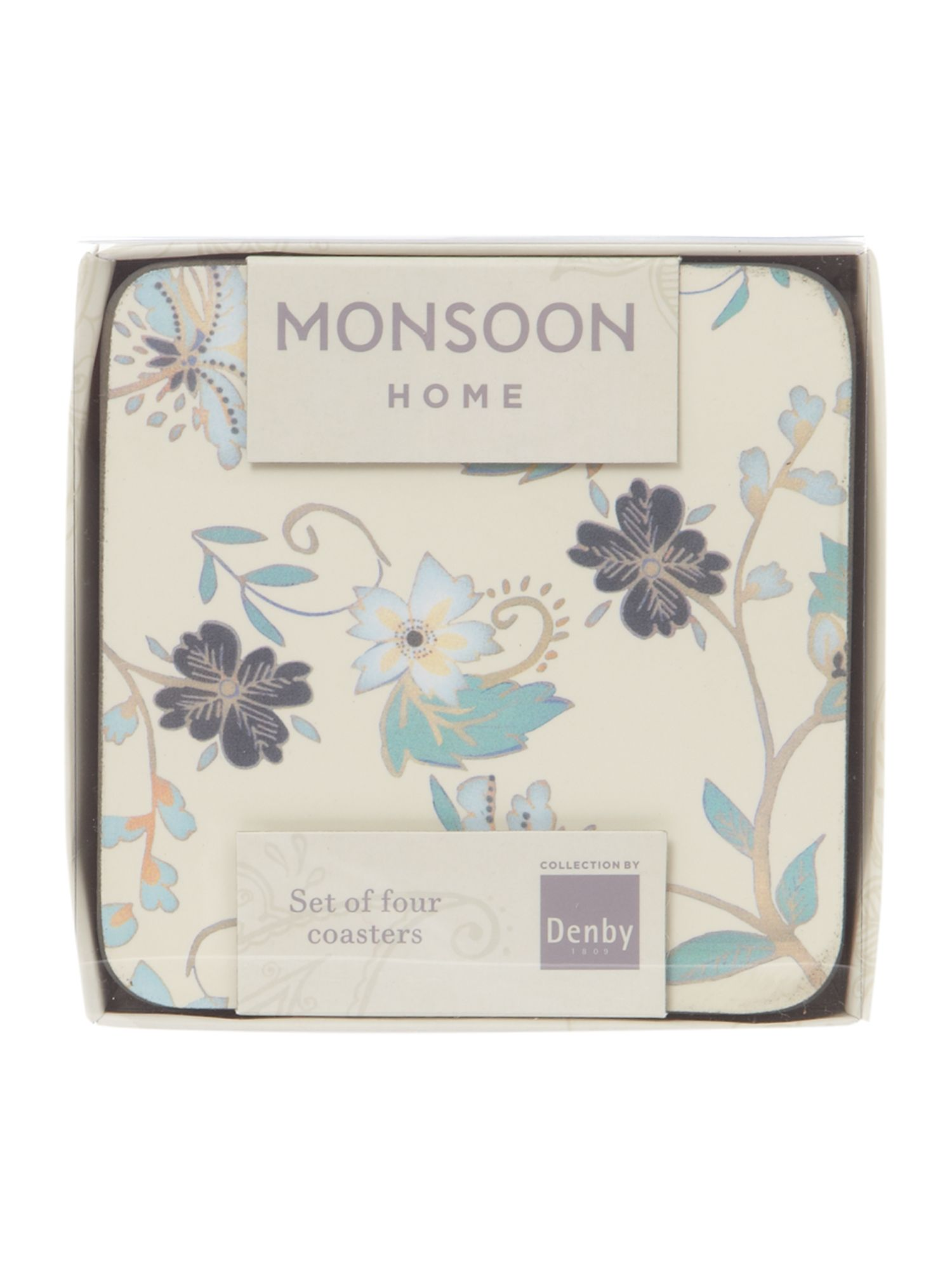 Monsoon veronica cream 4 x coasters