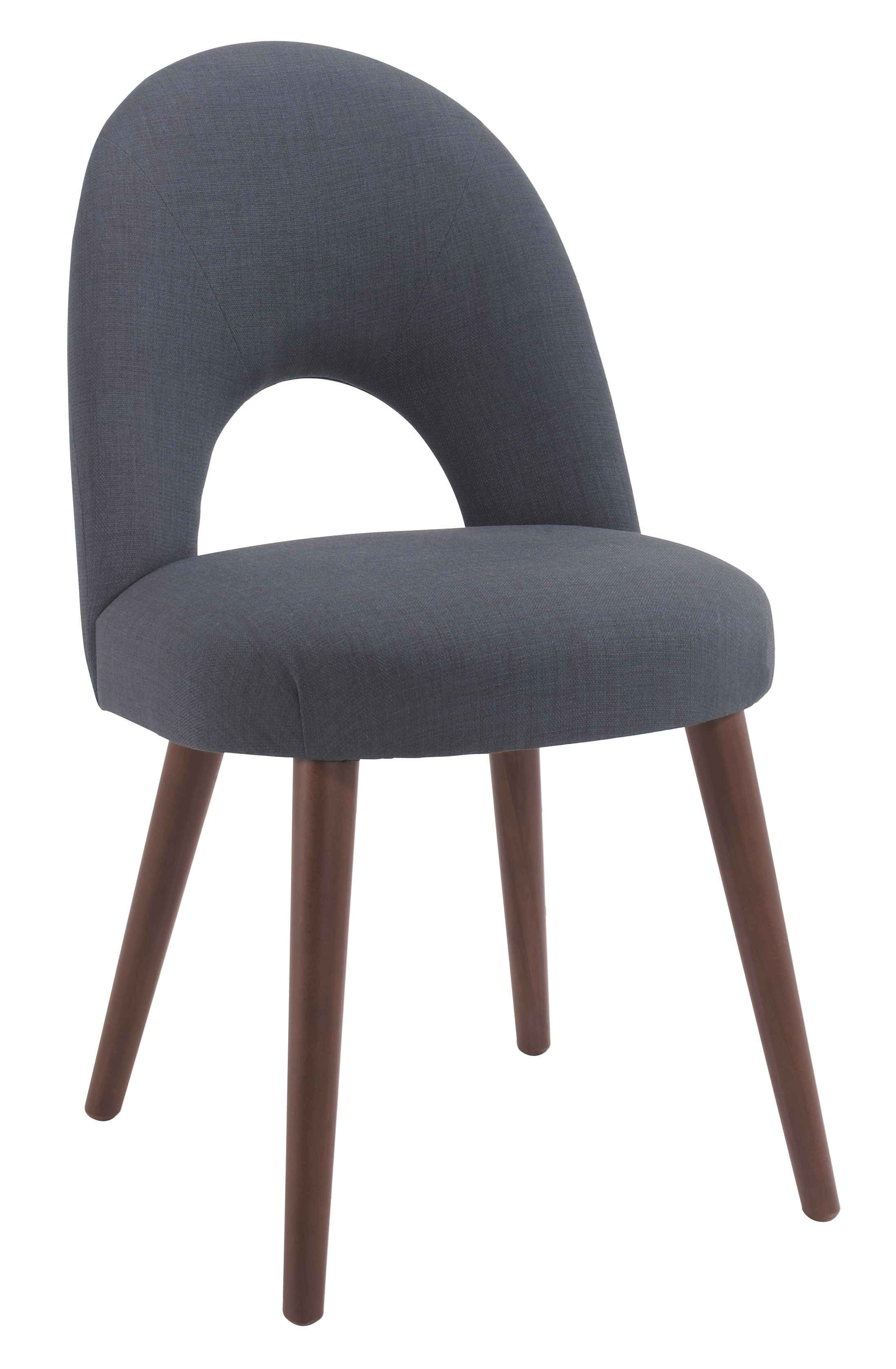 Dean walnut dining chair pair (charcoal)