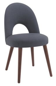 Linea Dean walnut dining chair pair (charcoal)