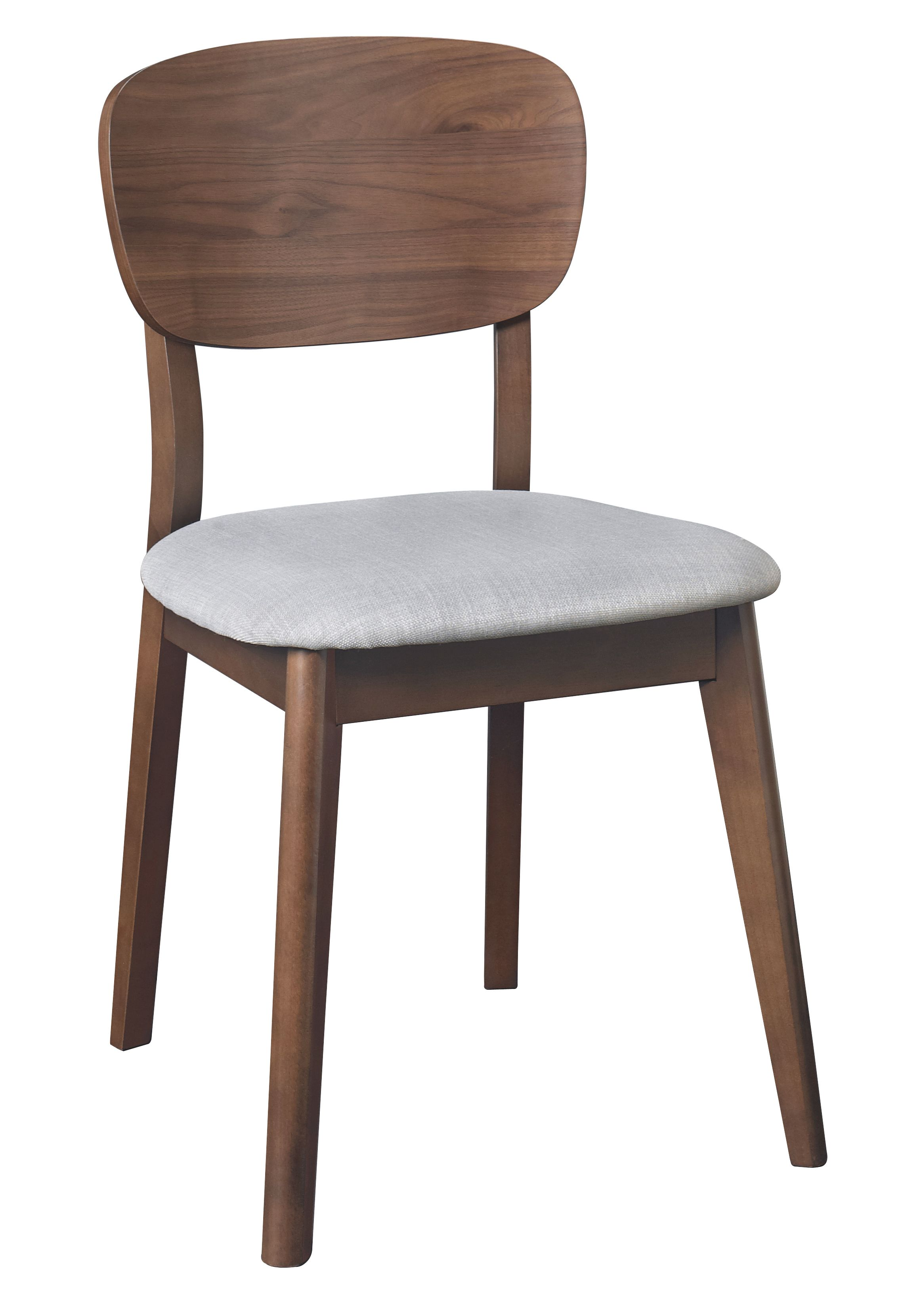Dean walnut dining chair pair