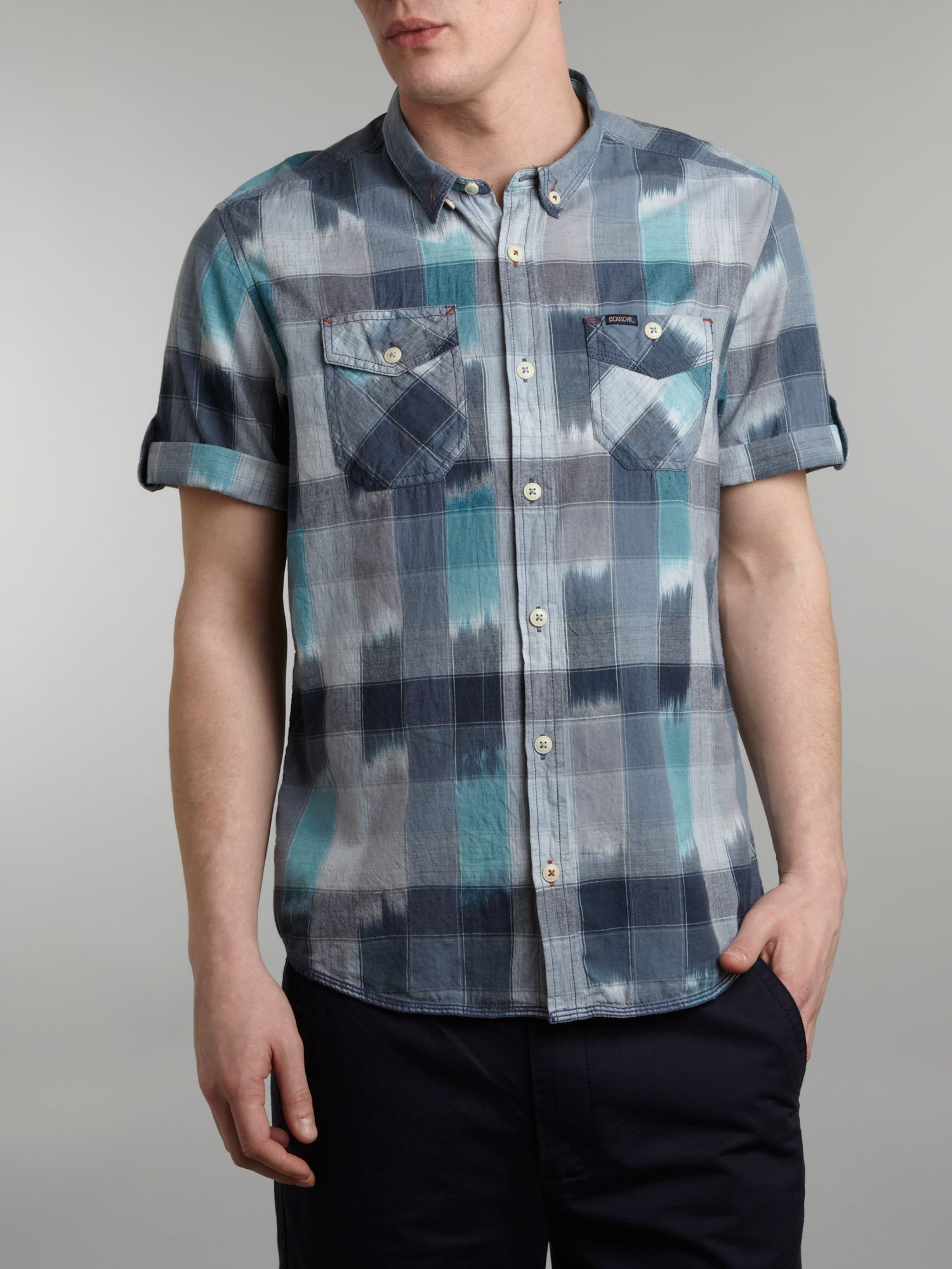 Short sleeve icat check shirt