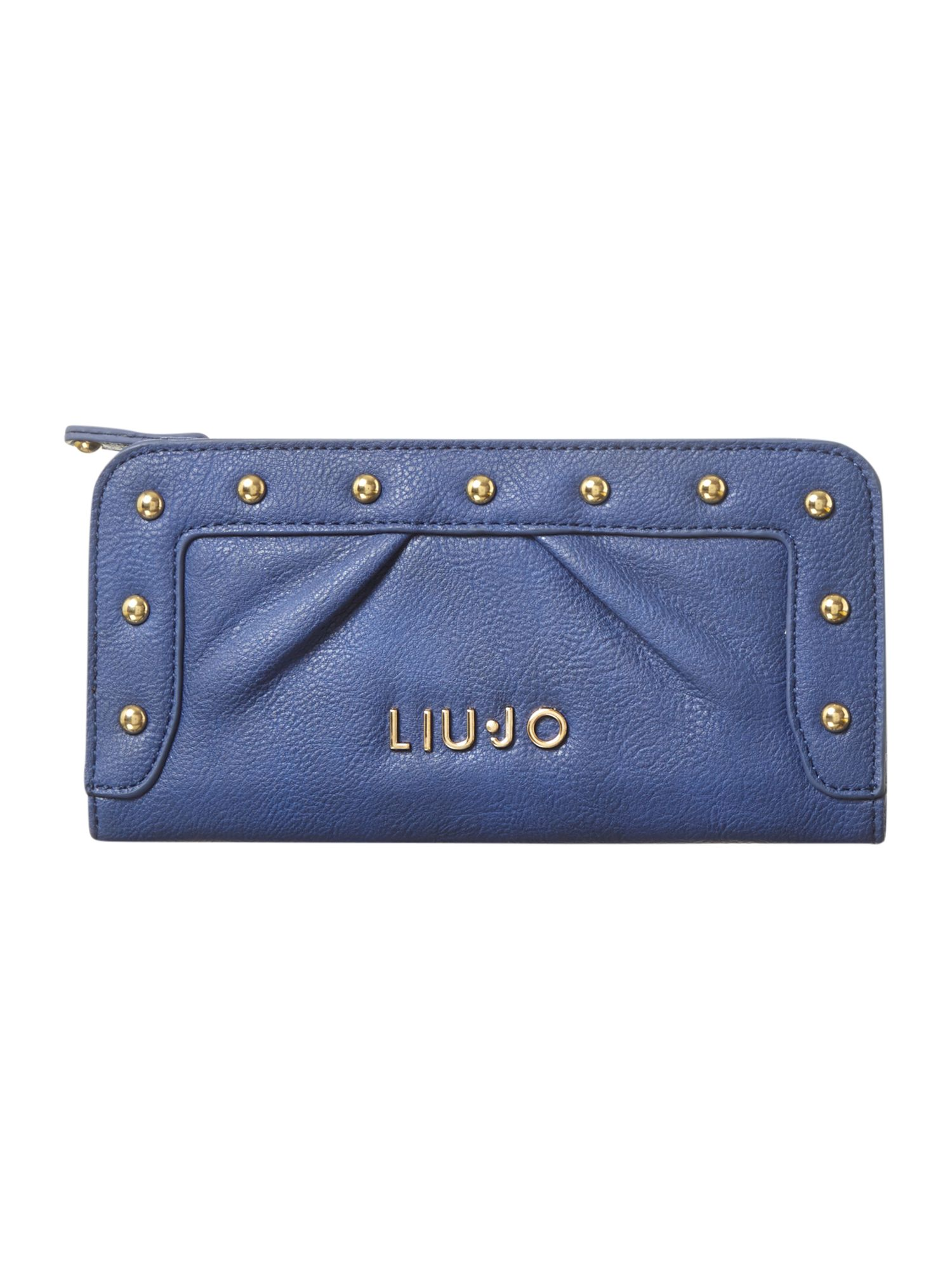 New good luck studded ziparound purse