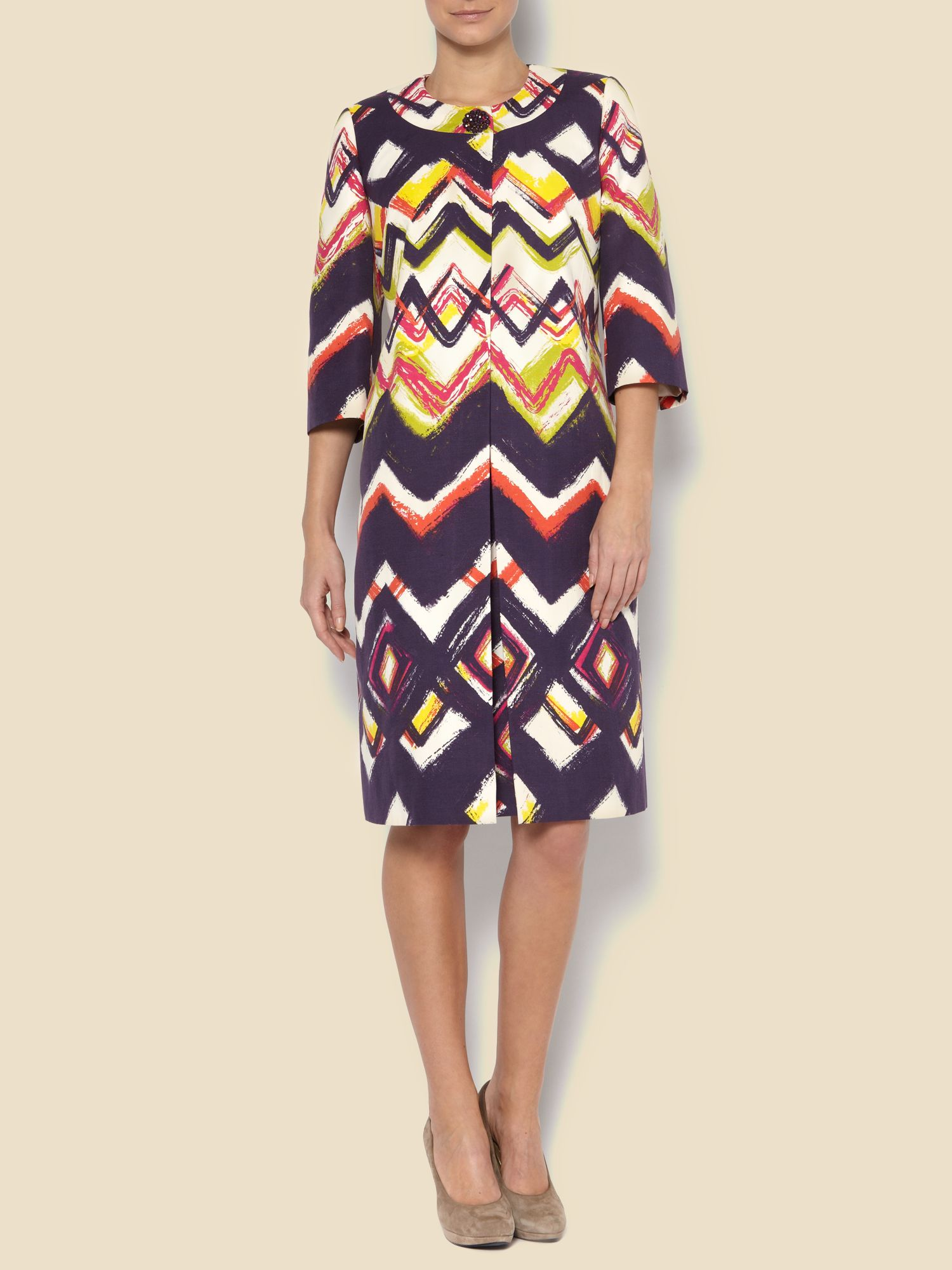 Zig zag dress coat