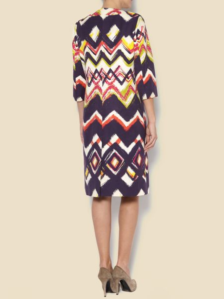 Linea Zig zag dress coat