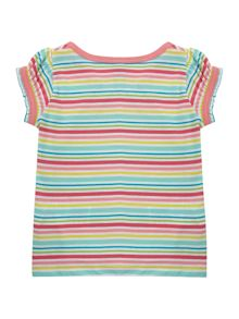 Benetton Girl`s short-sleeved multi stripe T-shirt