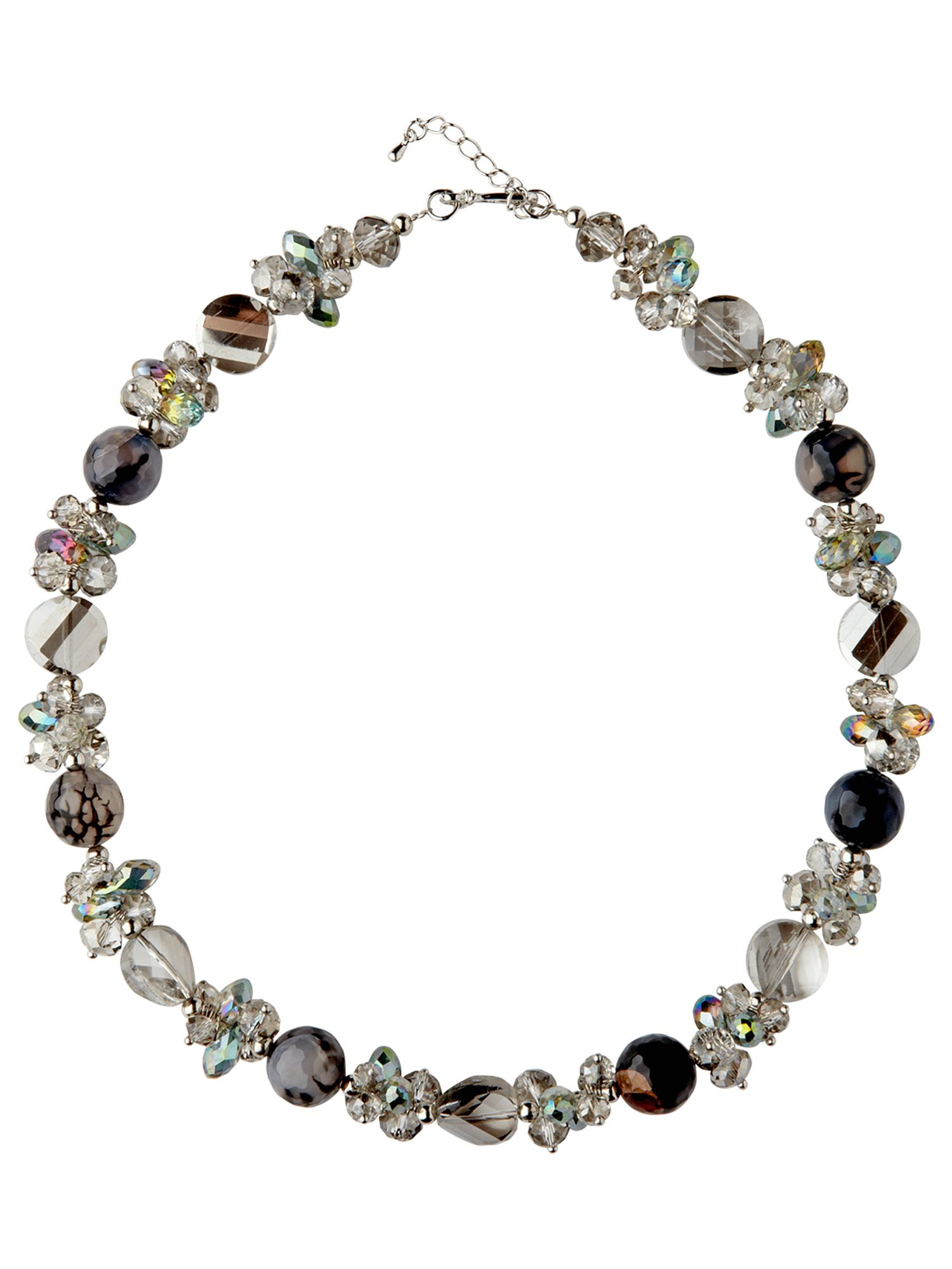 Cluster crystal bead necklace