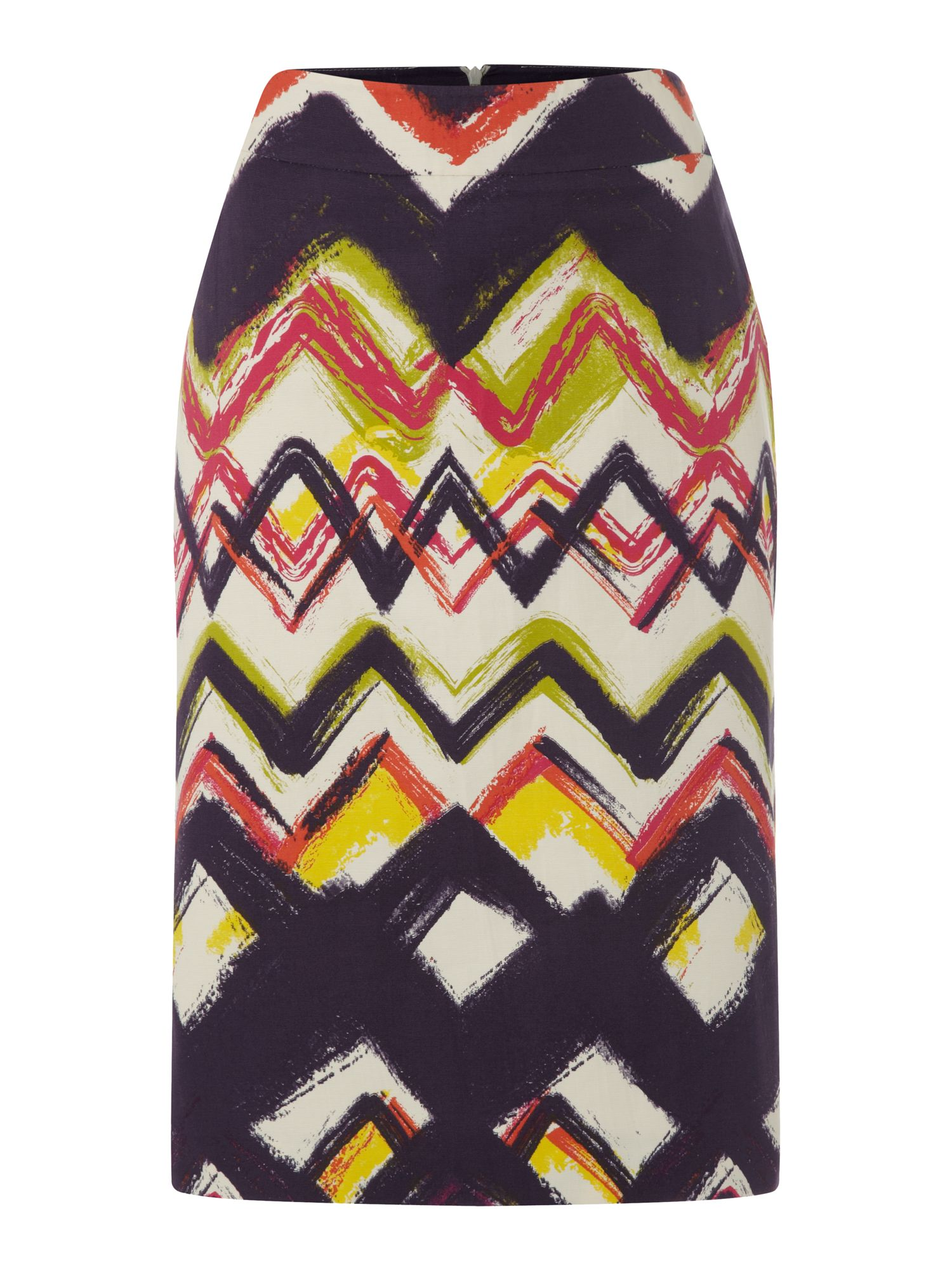 Zig zag pencil skirt