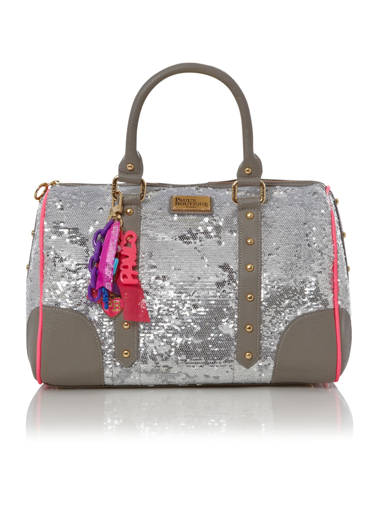 Sequin bowler bag