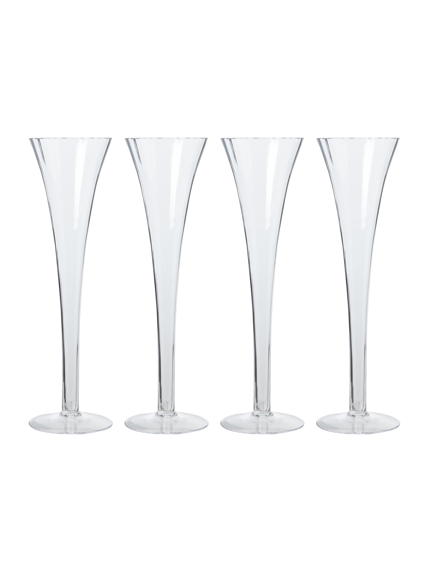 Aurelia champagne flutes, set of 4