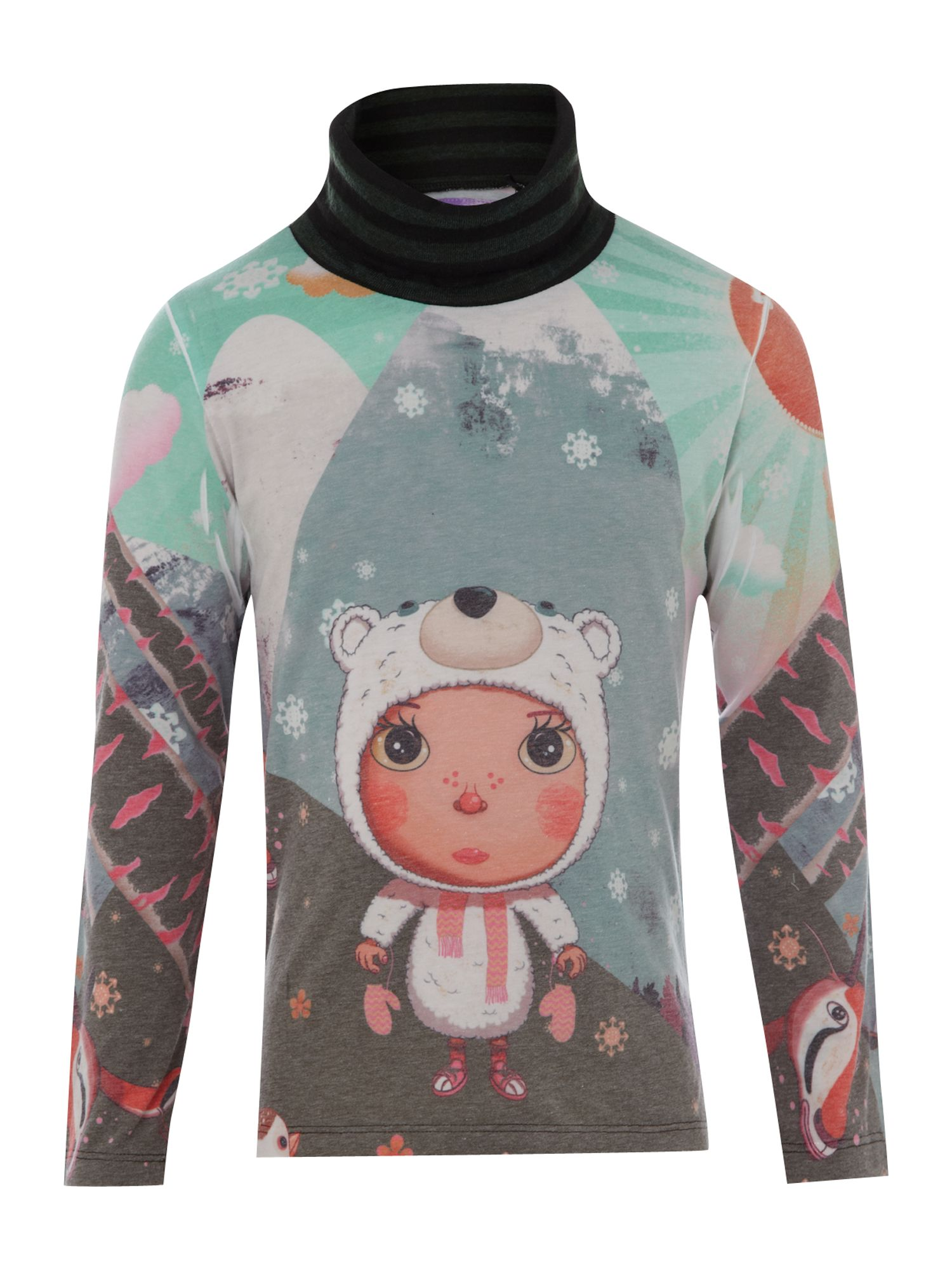Girl`s suki pio long sleeved t-shirt