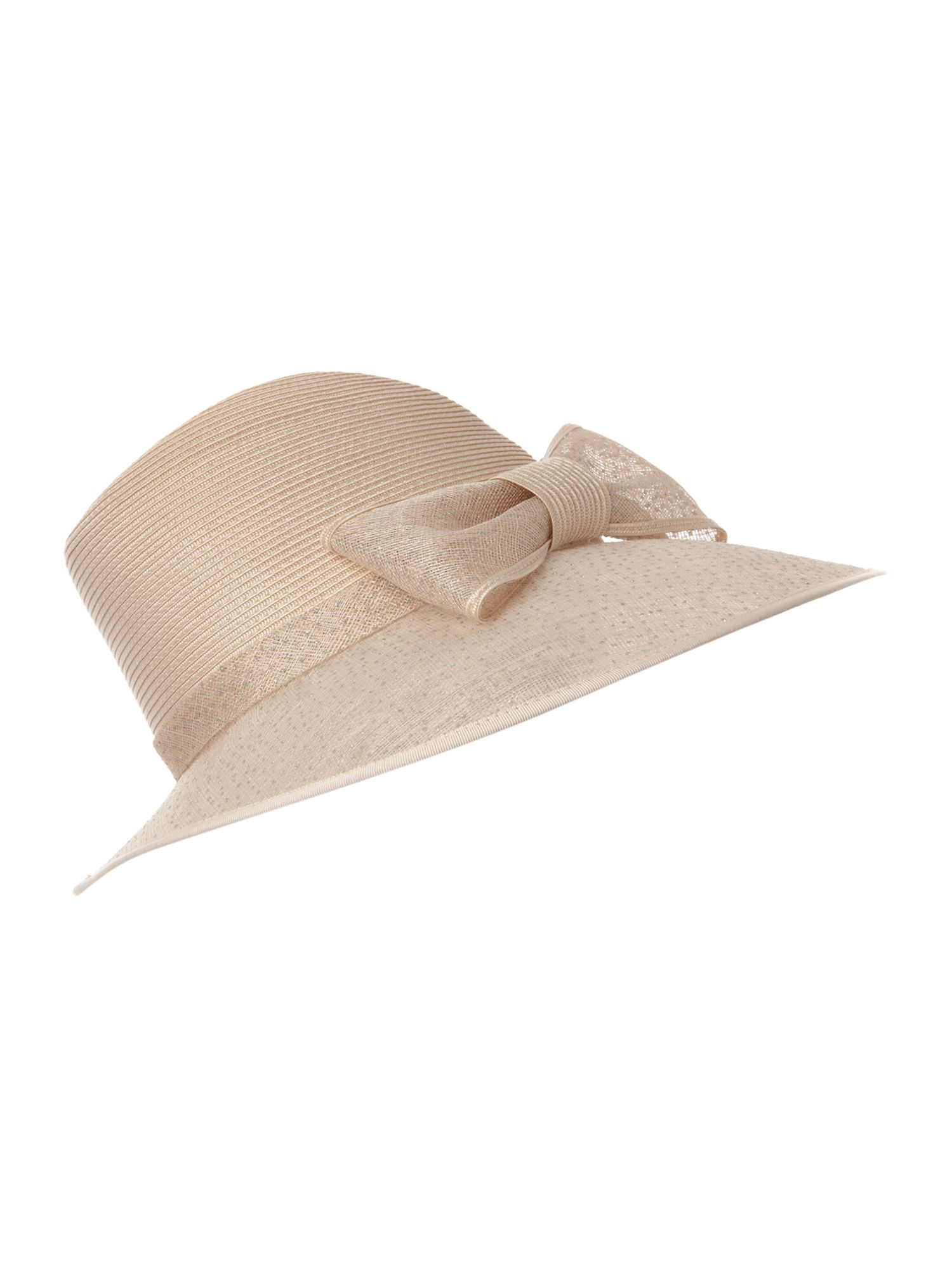 Bow trim trilby hat