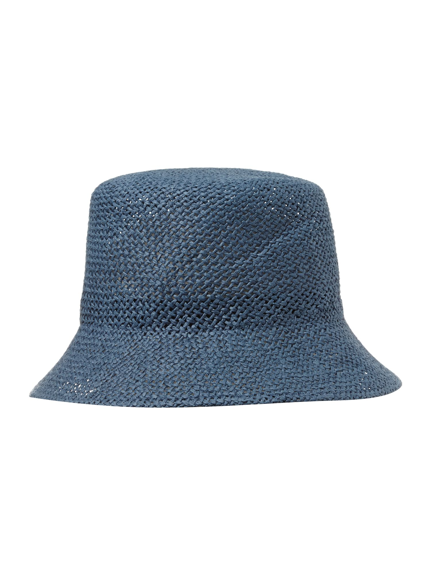 Open weave turn down brim summer hat