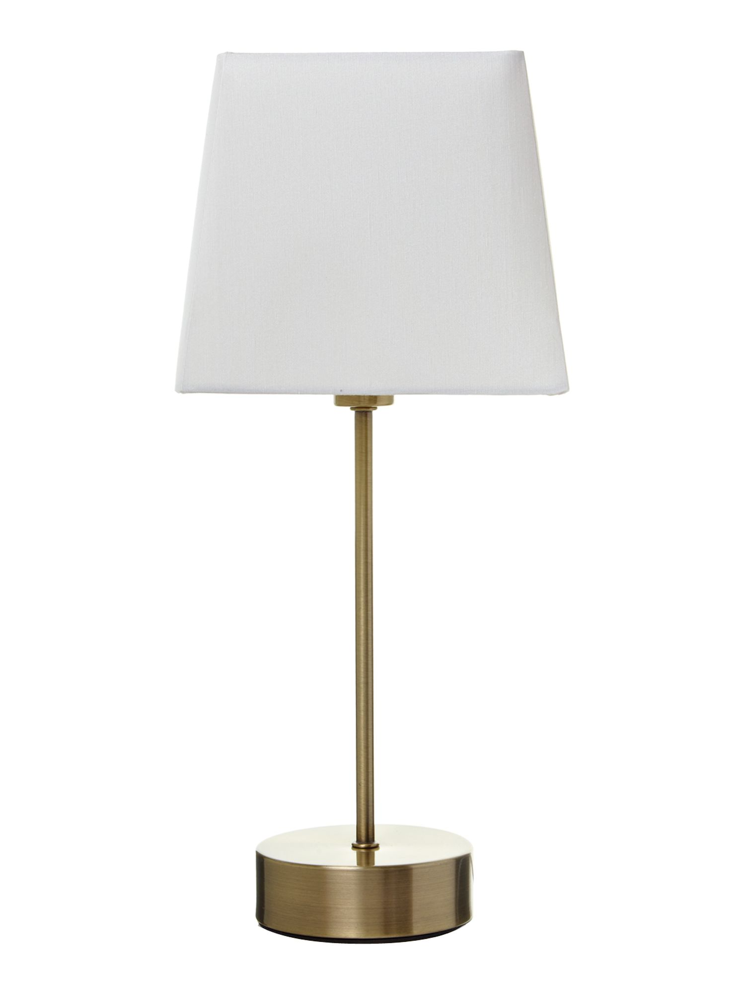 Amy cream square shade antique brass