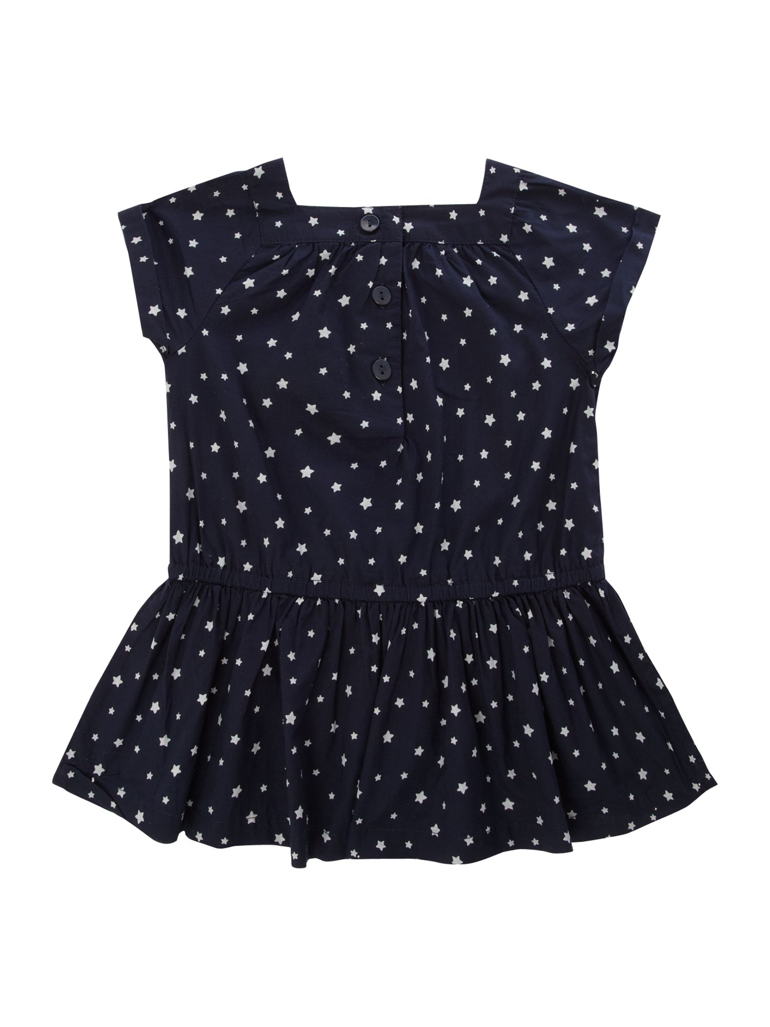 Girl`s star print tunic dress