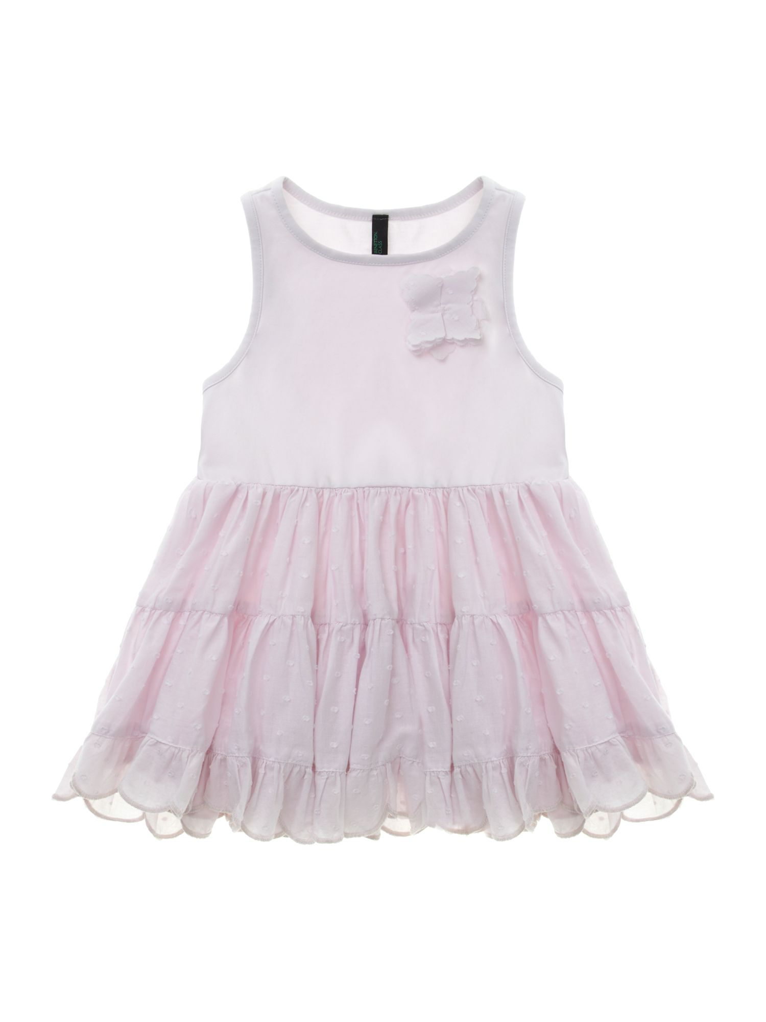 Girl`s jersey top & broderie anglais skirt dress