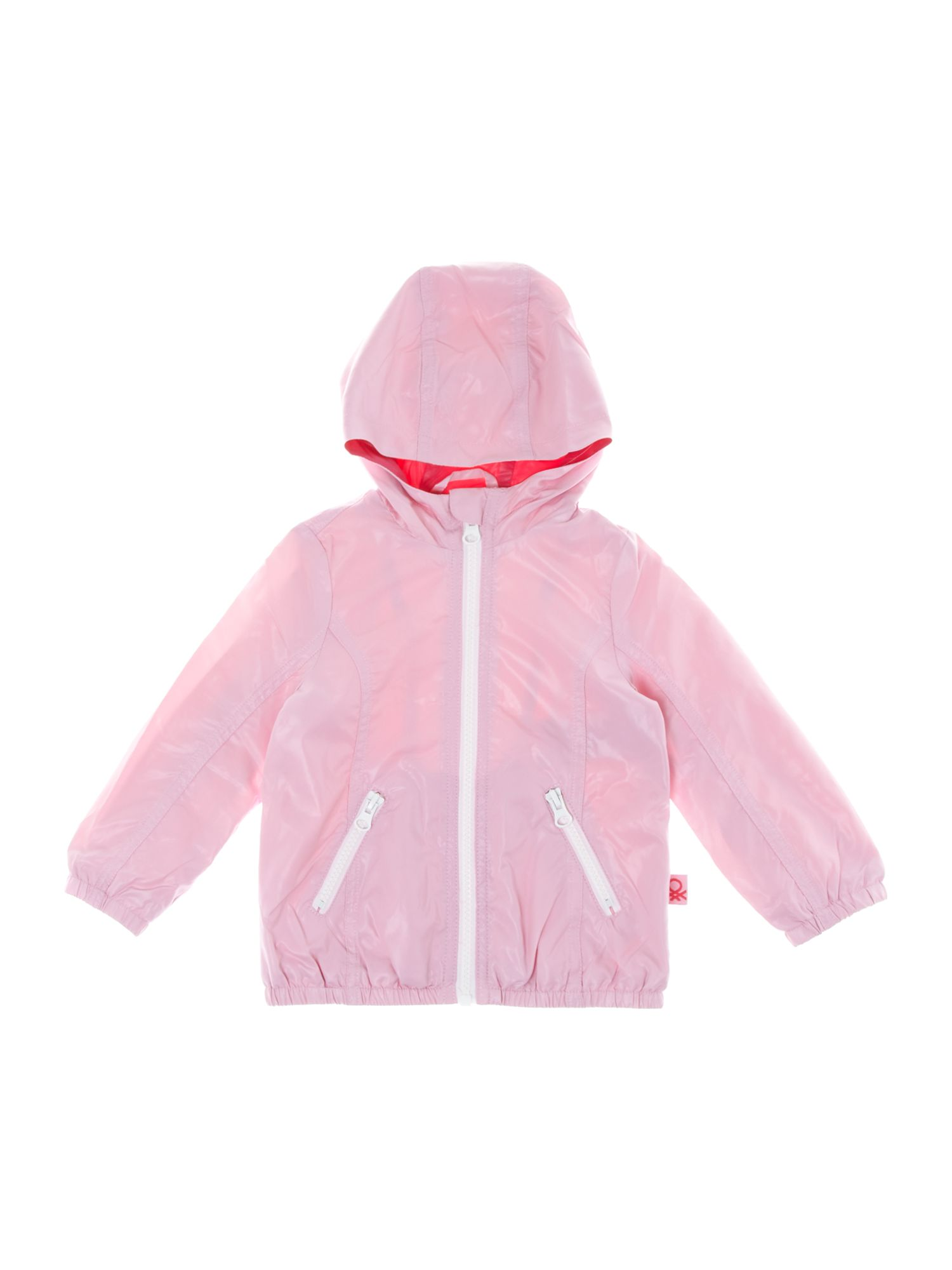 Girl`s lightweight zip-through hooded jacket