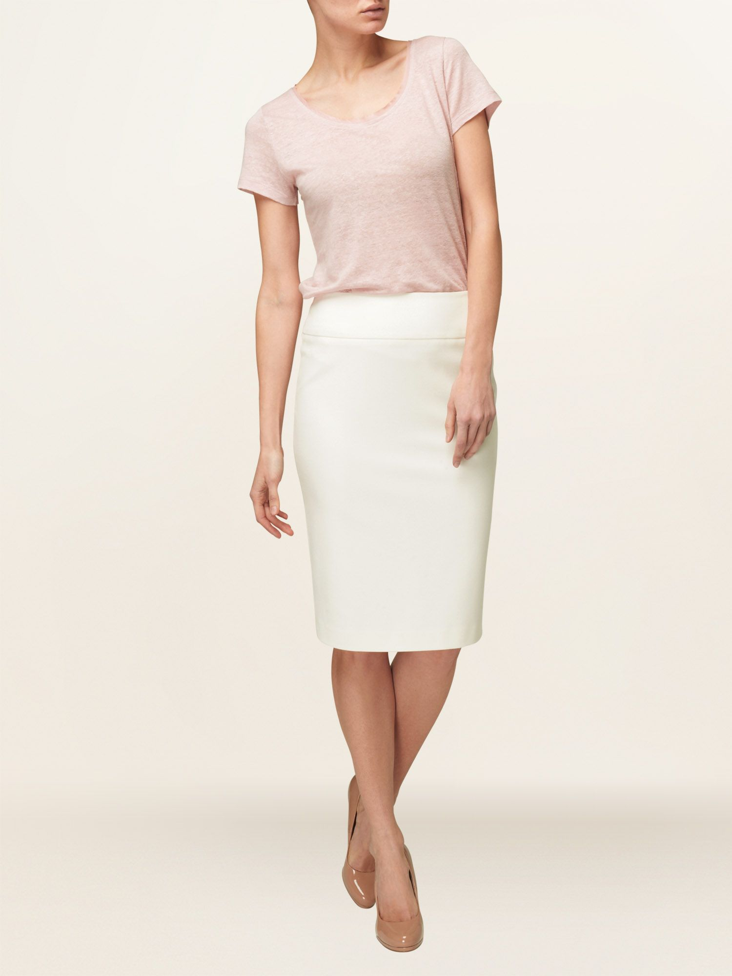 Lois pleat back detail skirt