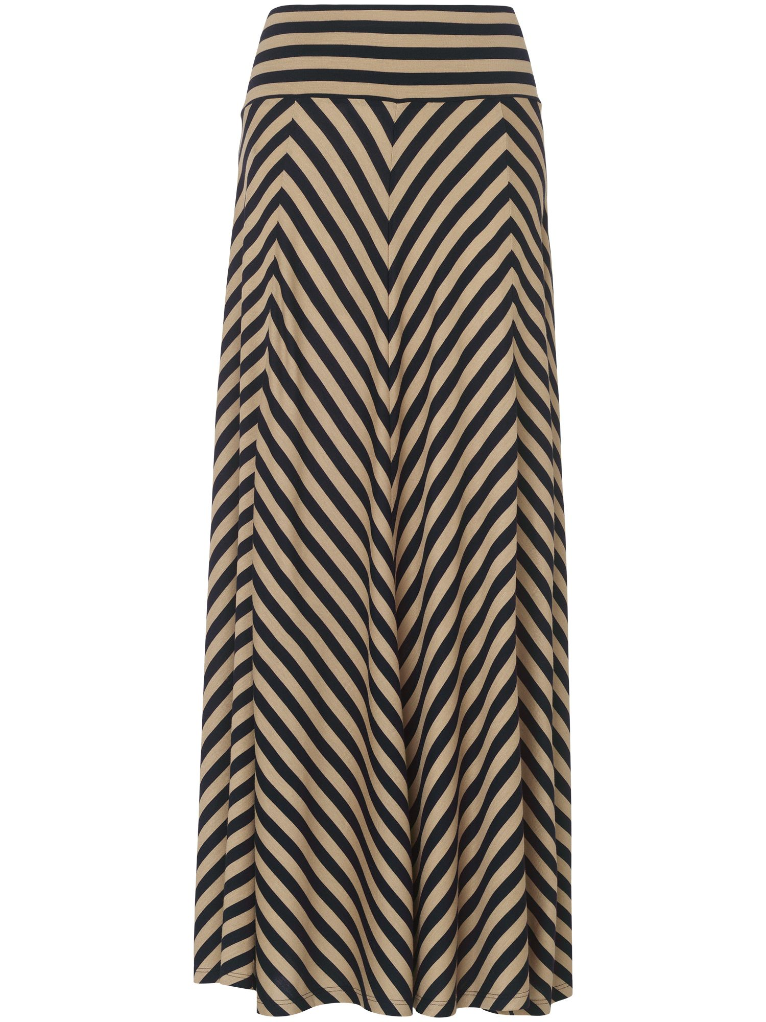 Jasmin chevron stripe maxi skirt