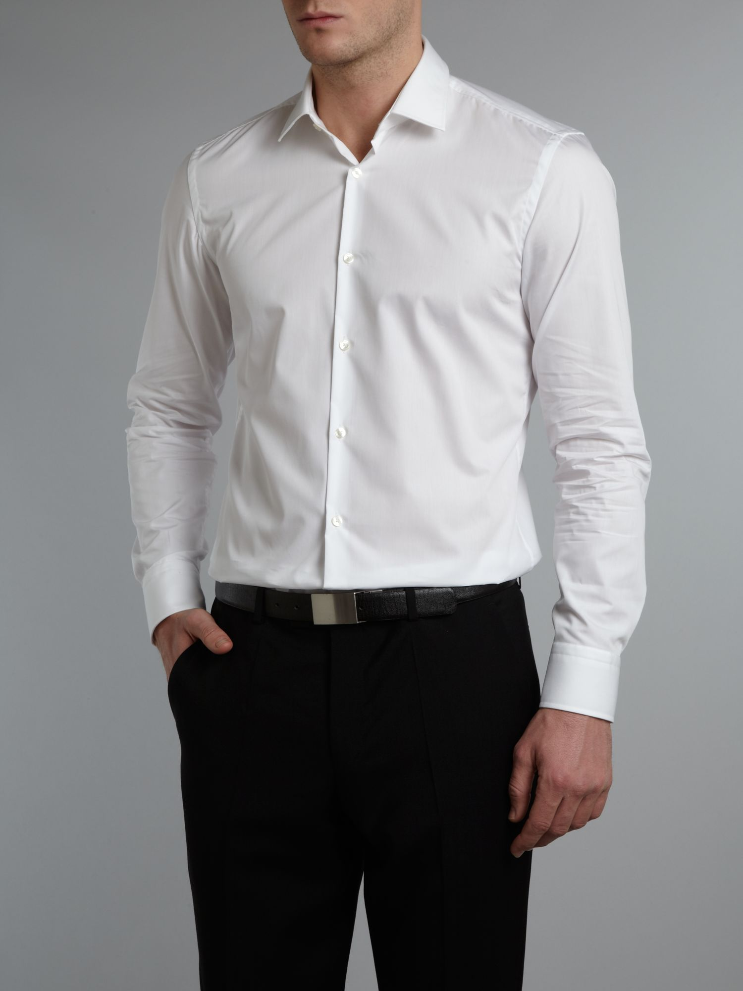hugo boss fitted shirt. Black Bedroom Furniture Sets. Home Design Ideas
