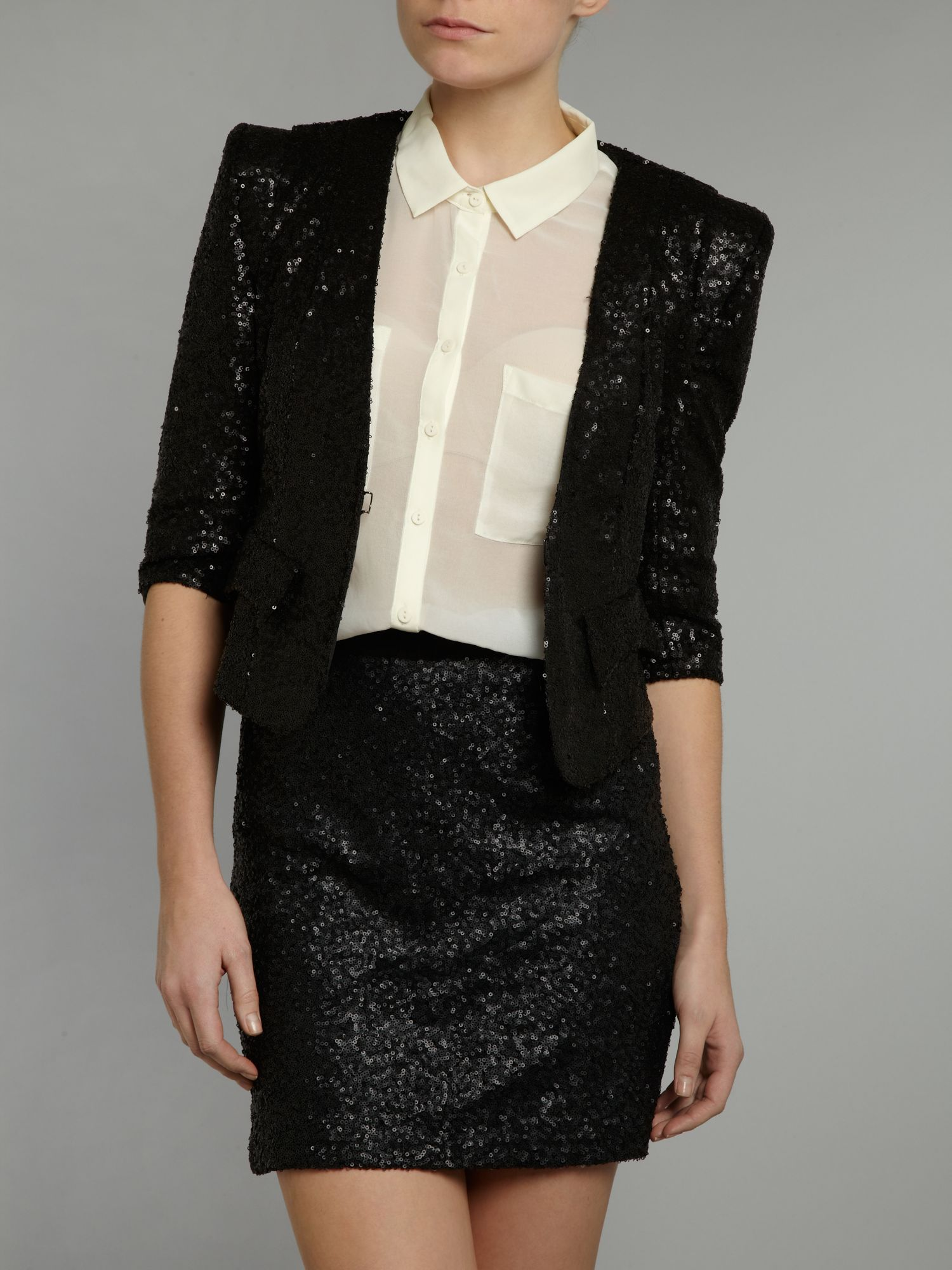 Tailored sequin blazer