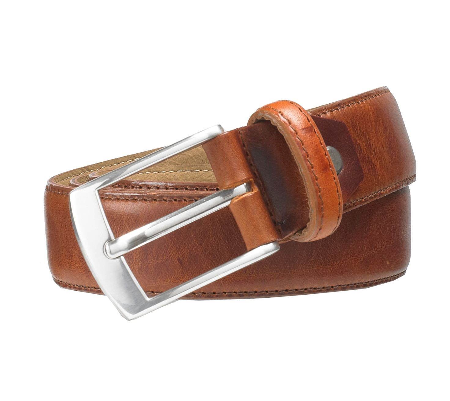 Tan stitched belt