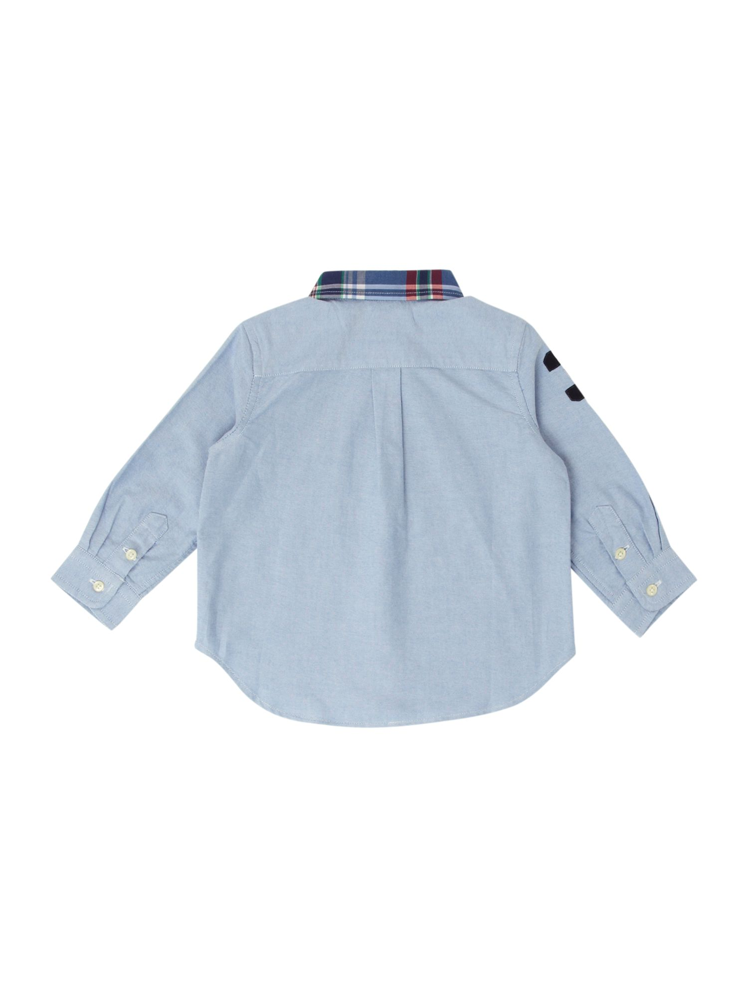 Boy`s classic oxford shirt with large pony logo