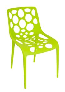 Brights bistro green outdoor chair pair