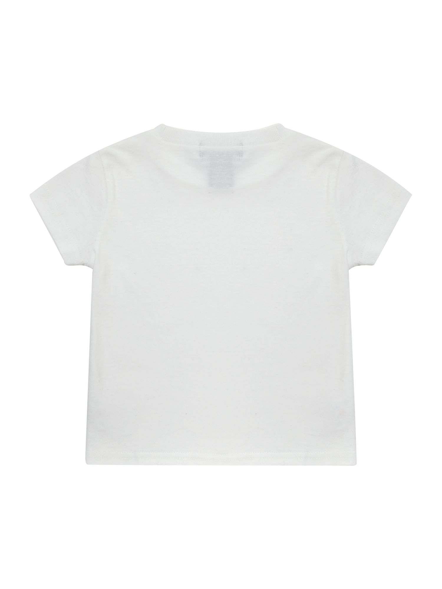 Boy`s short-sleeved crew neck logo T-shirt