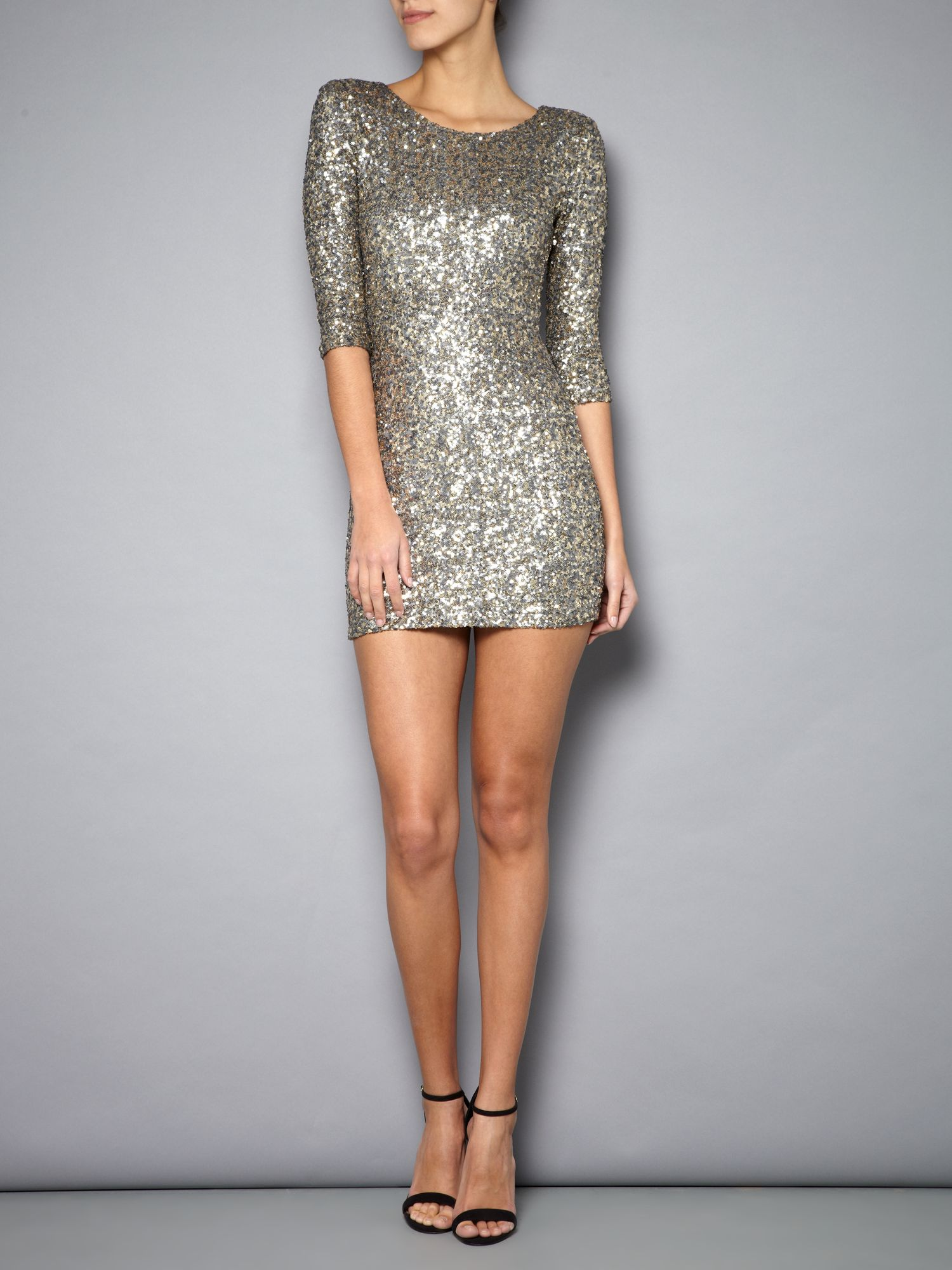 All over sequin Paris dress