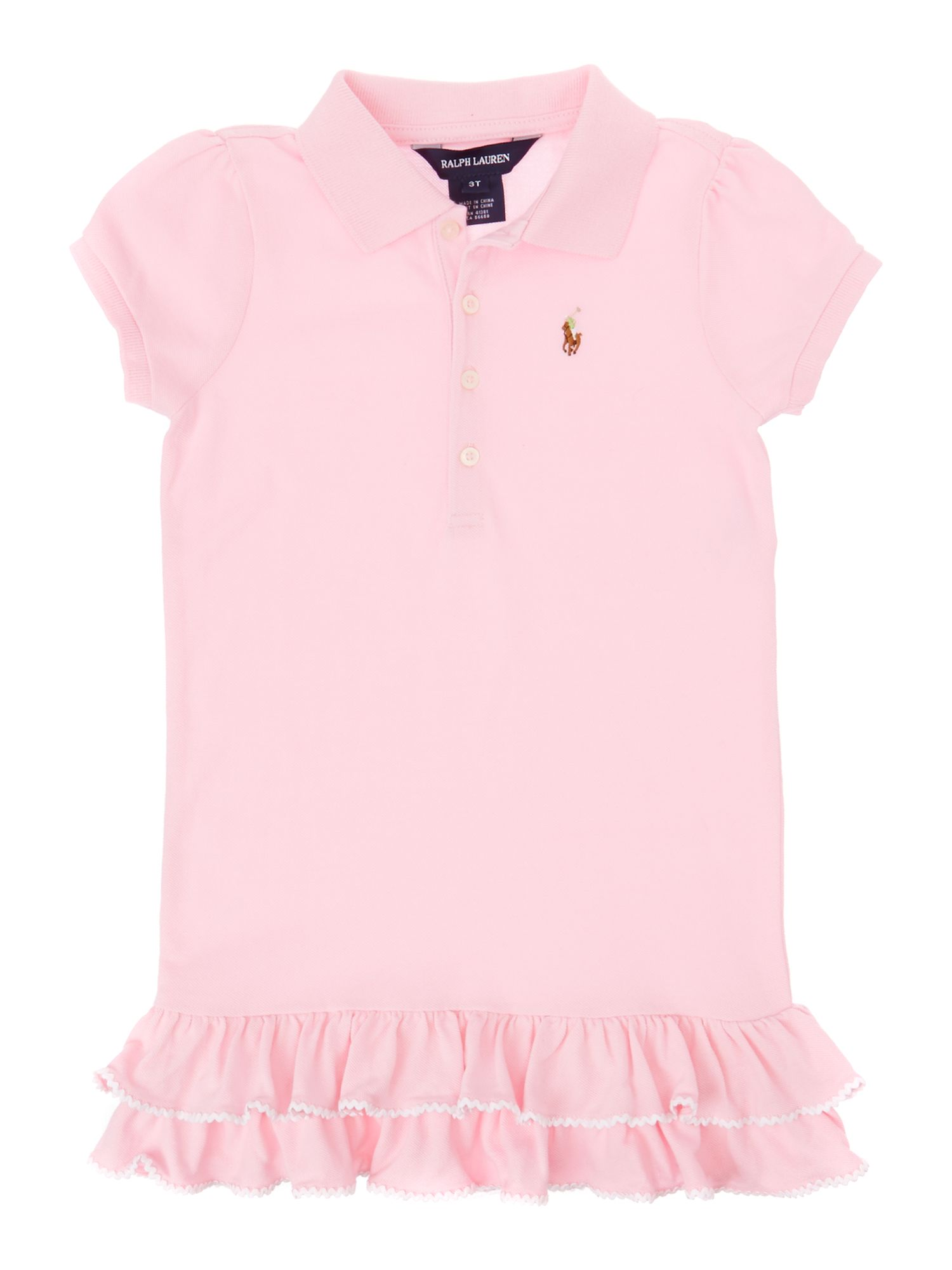 Girl`s short-sleeved frill polo dress