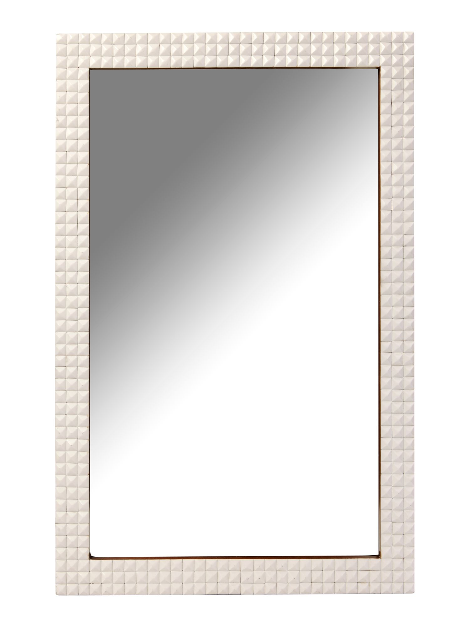 Diamond textured mirror 60 x 90cm