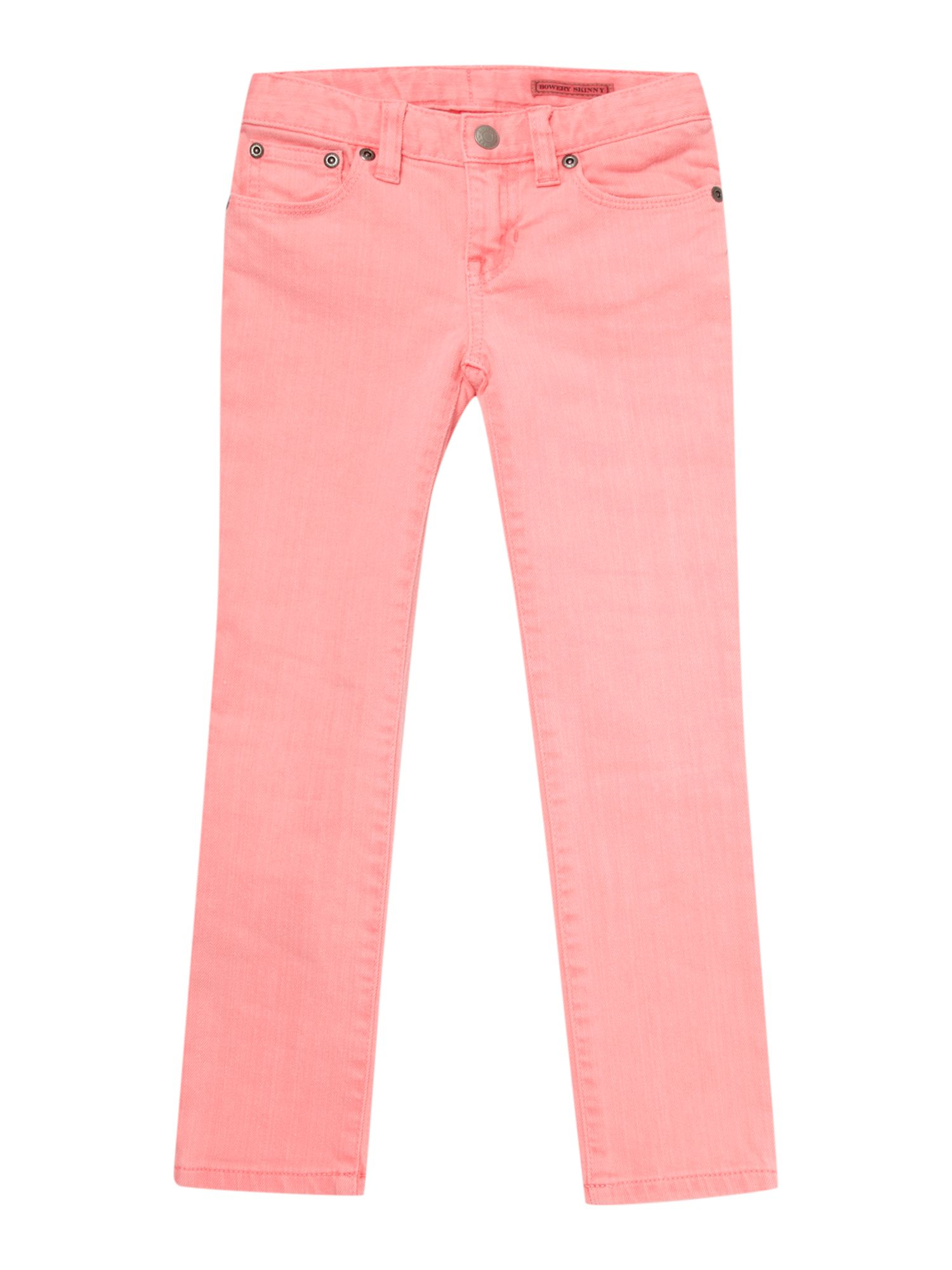 Girl`s large pony logo neon jeans