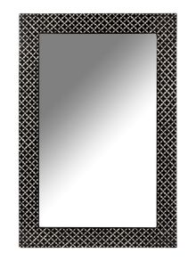 Black and white patterned mirror