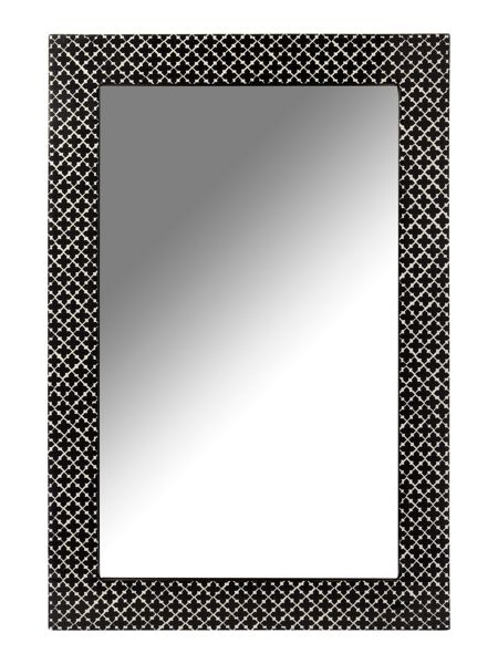 Living by Christiane Lemieux Black and white patterned mirror