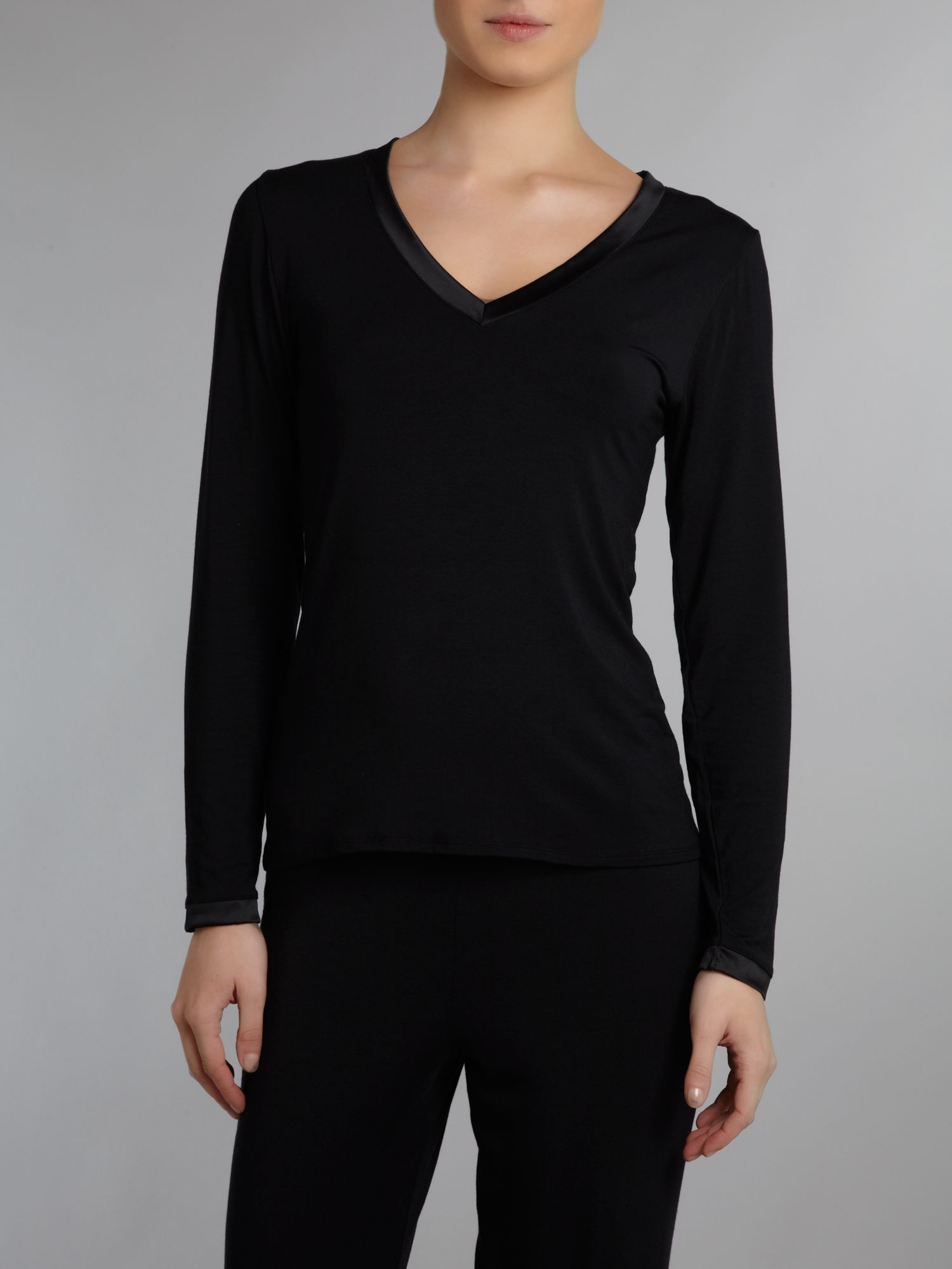 Heat shimmer long sleeve pj top