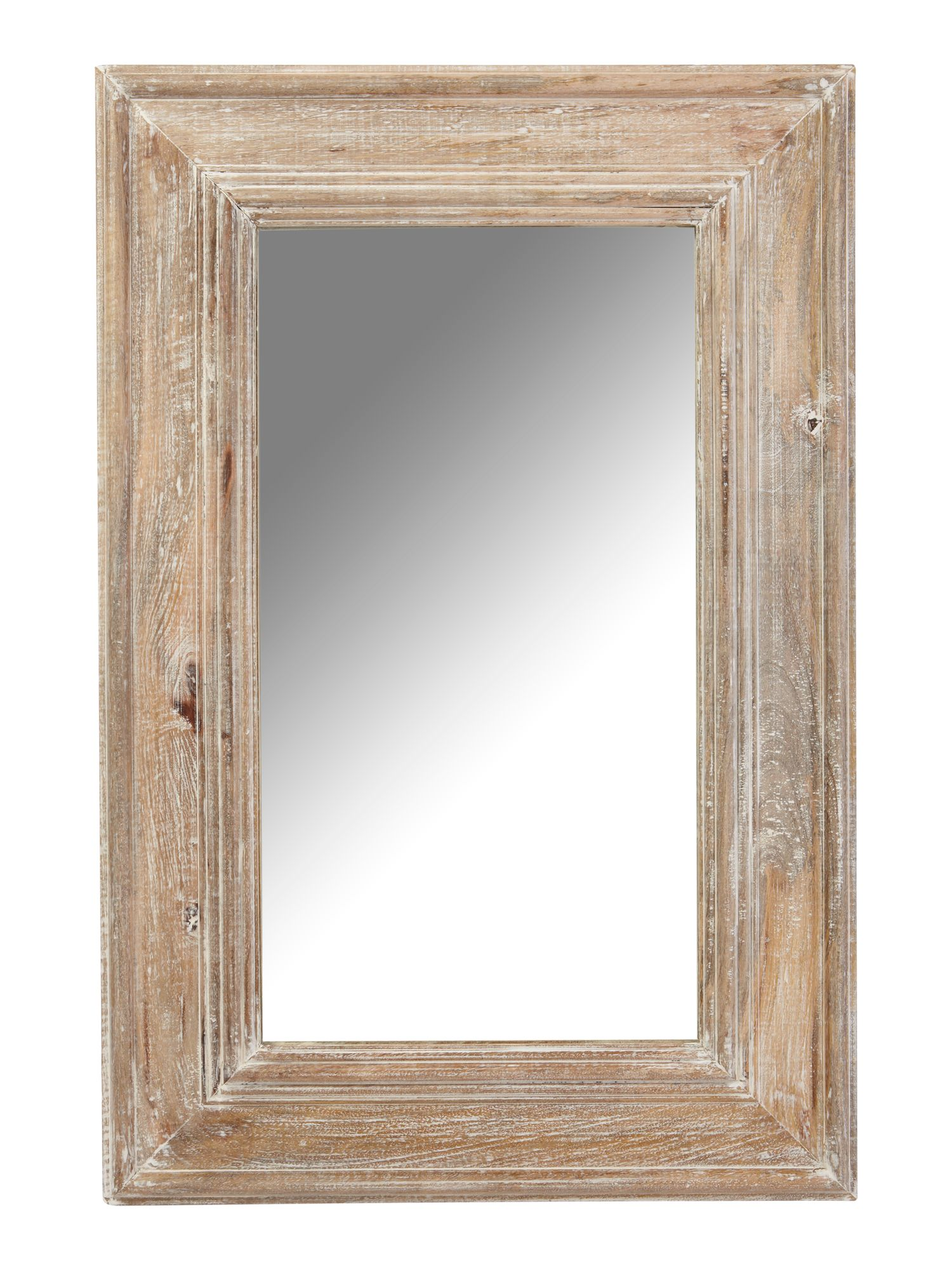 Distressed mango wood framed mirror 60 x 90