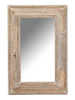 Shabby chic distressed mango wood framed mirror 60 x 90 for Miroir 60x90