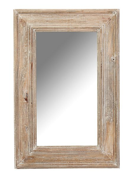Shabby chic distressed mango wood framed mirror 60 x 90 for Miroir 80 x 90