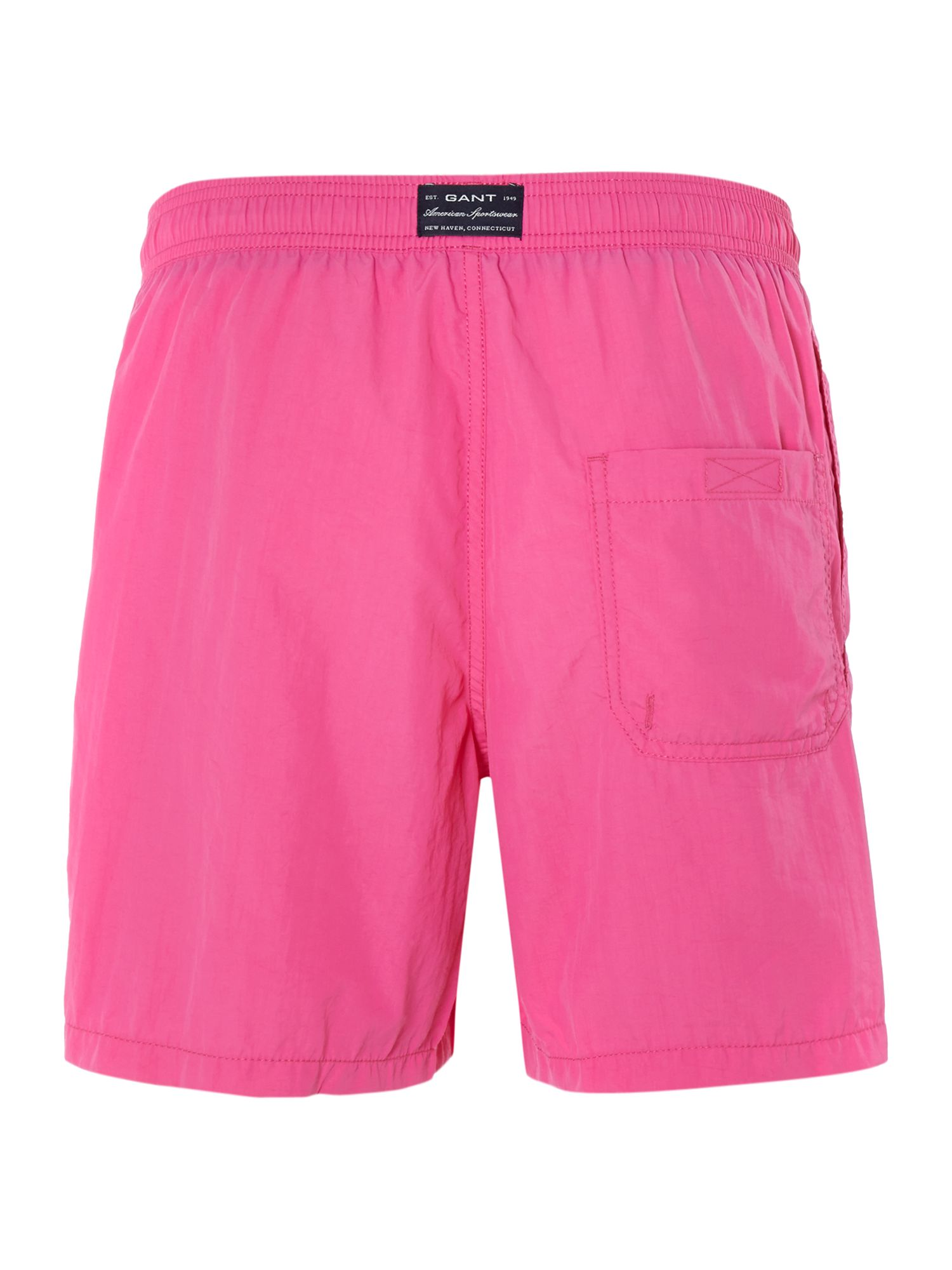 Plain boxer swim shorts